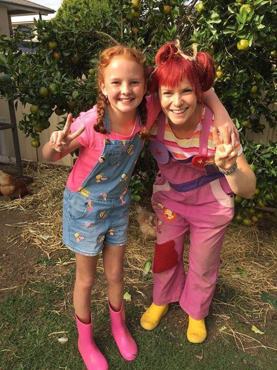 Here is a pic of me and my friend - chicken girl! She really knows a lot about chickens!