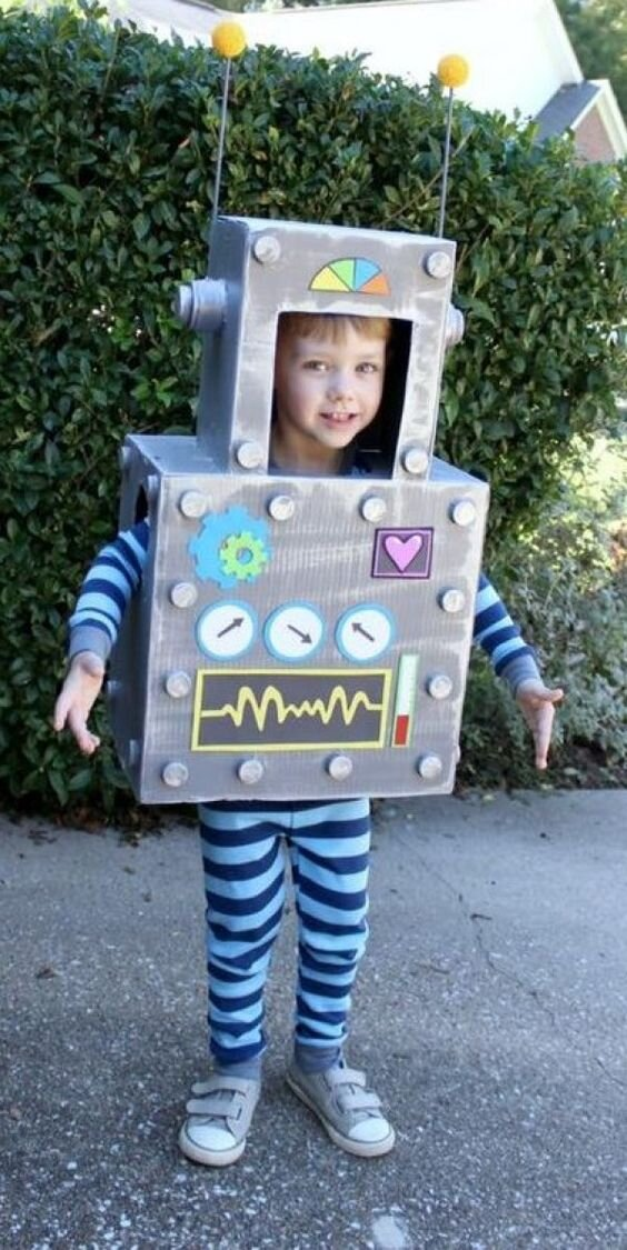 How about a Robot Costume from  here on pinterest