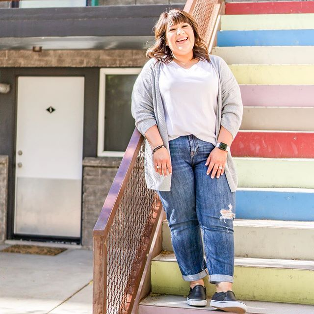 I didn't want to post this picture. I picked myself apart to near tears. • 🤦🏻‍♀️ I have a double chin. 🤦🏻‍♀️ I wish my jeans fit differently. 🤦🏻‍♀️ I should have untucked my shirt to hide the little belly pooch. • Then I thought… how can you help others develop a positive mindset when I can't accept myself as I am?  Reality check. 🤷🏻‍♀️ • The REAL story this picture tells. ♥️ I am happy. ♥️ I am loved. ♥️ I have an infectious smile. ♥️ I love my hair. ♥️ I am in better shape than I was two years ago and  I feel great! ♥️ I was so excited to do my first photo shoot. ♥️ My daughter was there to make sure I didn't look awkward. 😂 ♥️ @lindsbae is an amazing photographer and her eye for my beauty came through in every single photo she took. • I AM ENOUGH. • What we say we need… ❌ Slimmer body ❌ Whiter teeth ❌ Brighter thoughts ❌ Clearer skin ❌ To be good enough  What we truly need… ♥️ Self-Acceptance  What we need to remember... 💯It's ok to not to be perfect 💯We accept ourselves as we are 💯We are enough • Choose to start loving yourself more today. Chances are, you've waited long enough anyway. • What's one thing you love about yourself?