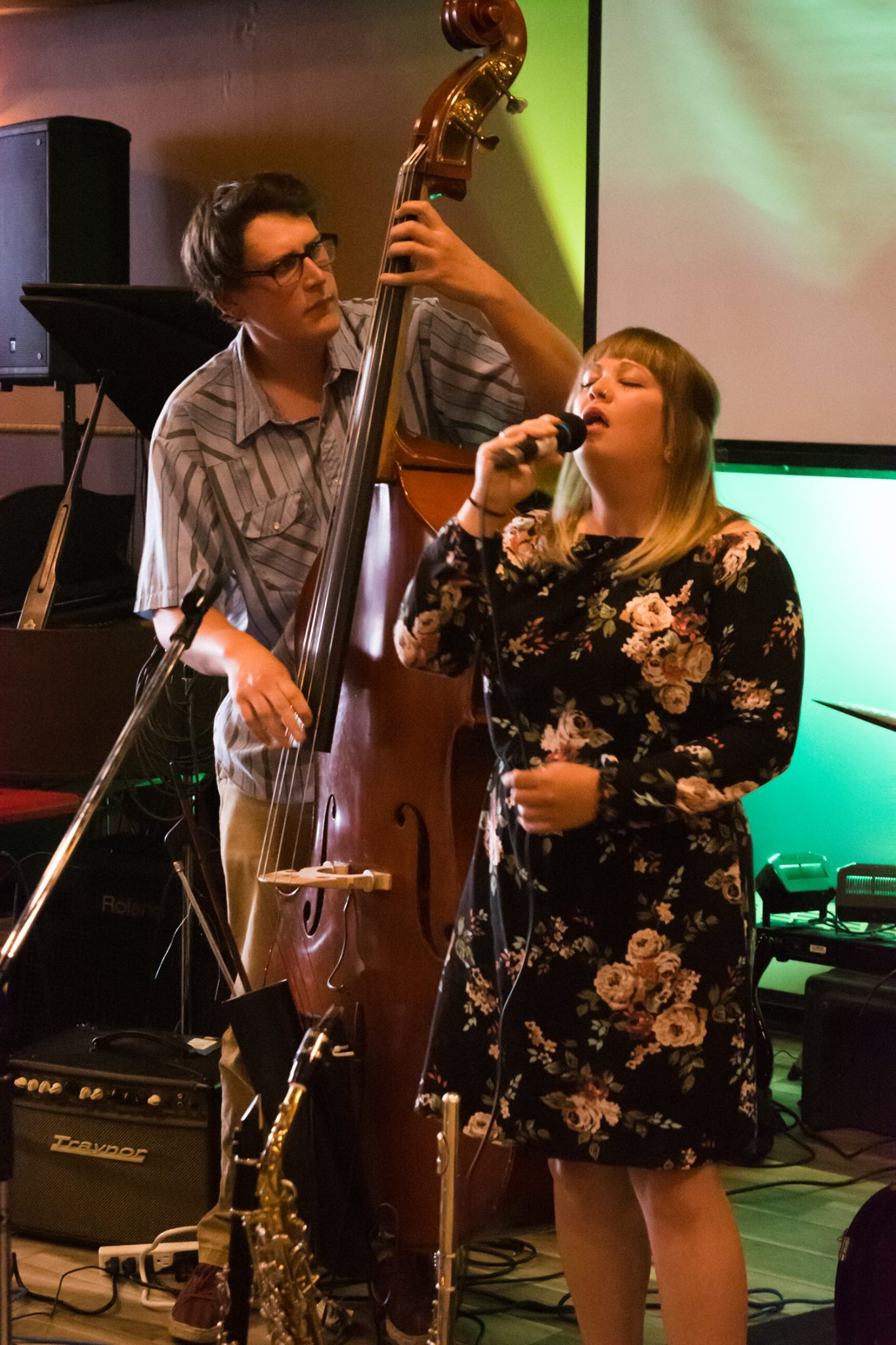 Andrew Furlong and Laura Swankey at Sudbury Jazz Festival. September 2016.