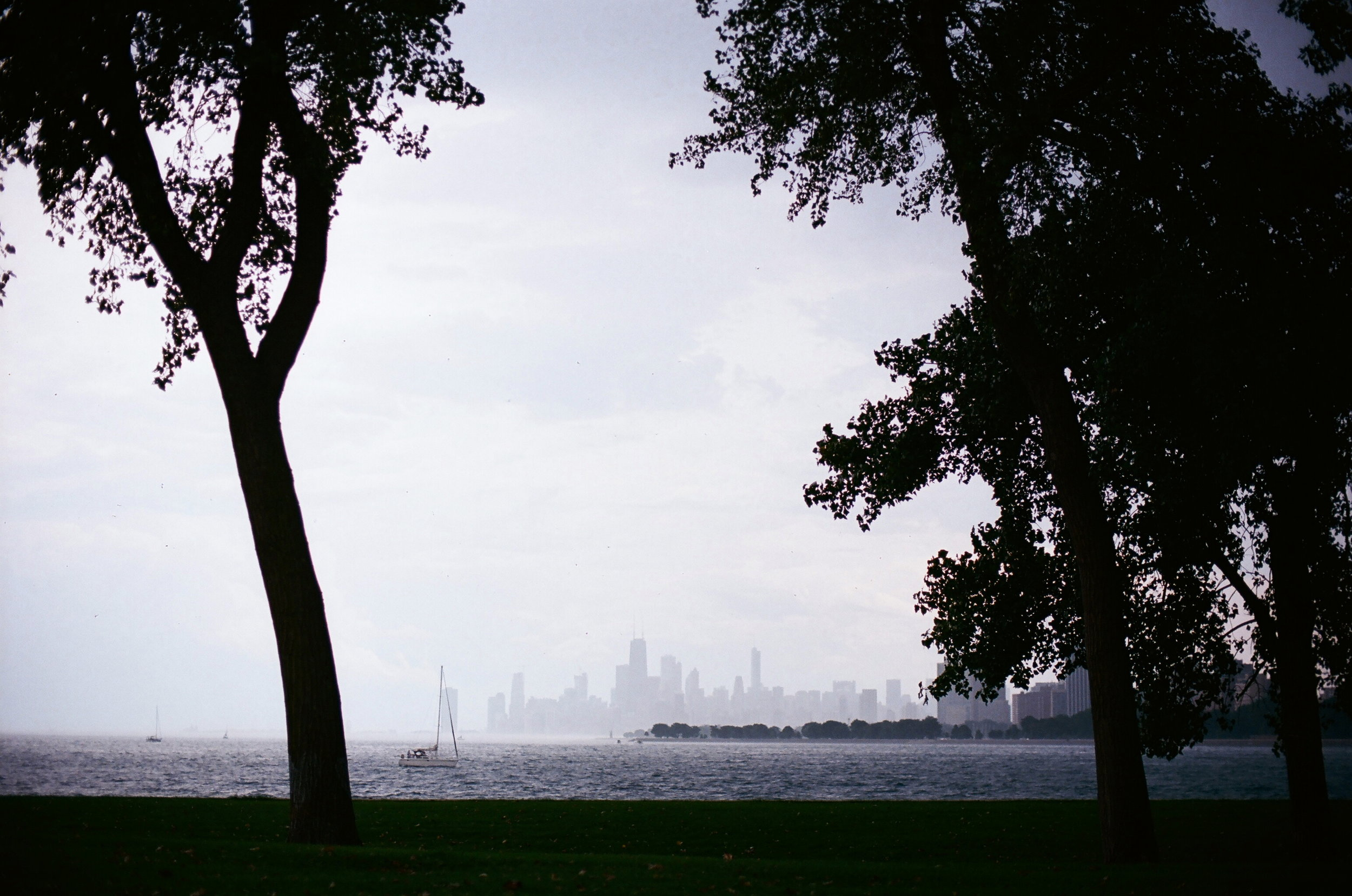 35mm Film Photo of Chicago Beach Lake Michigan by ZShare Photovisions