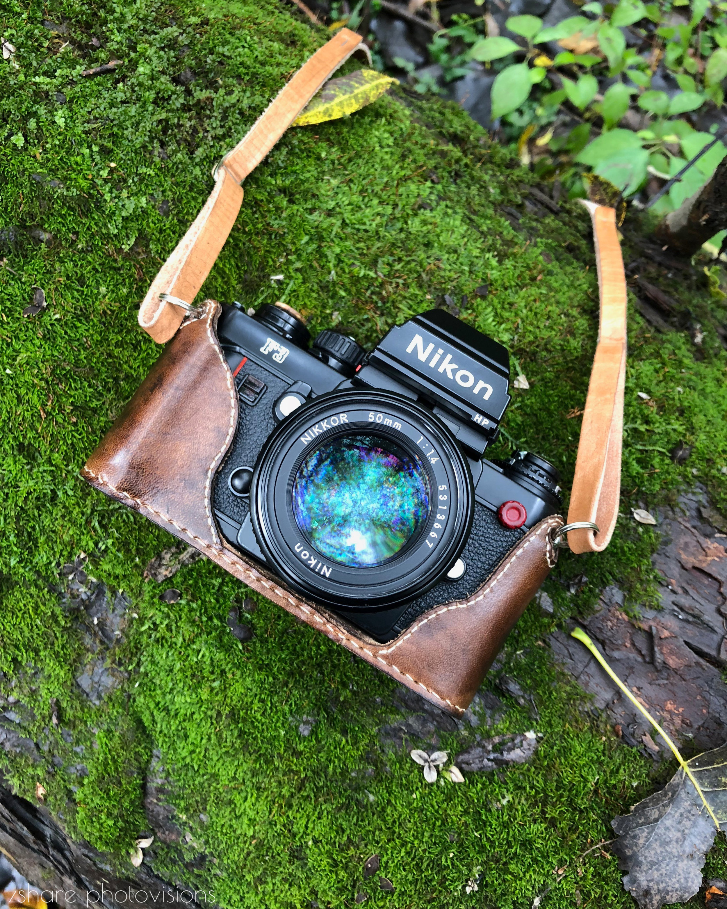 Nikon F3 on moss in the woods - buffalo creek - by zshare photovision