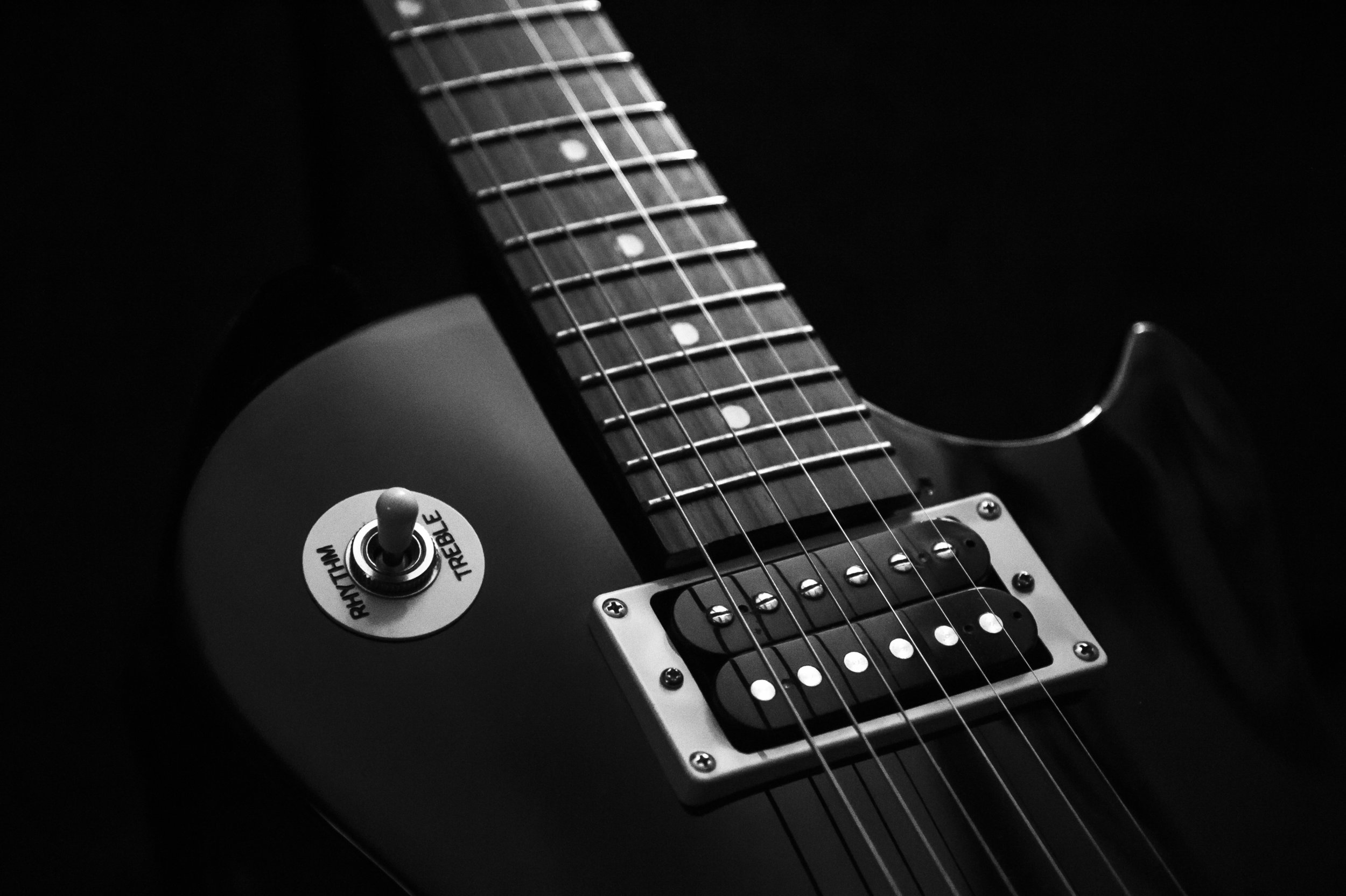 black and white les paul by zshare photovisions