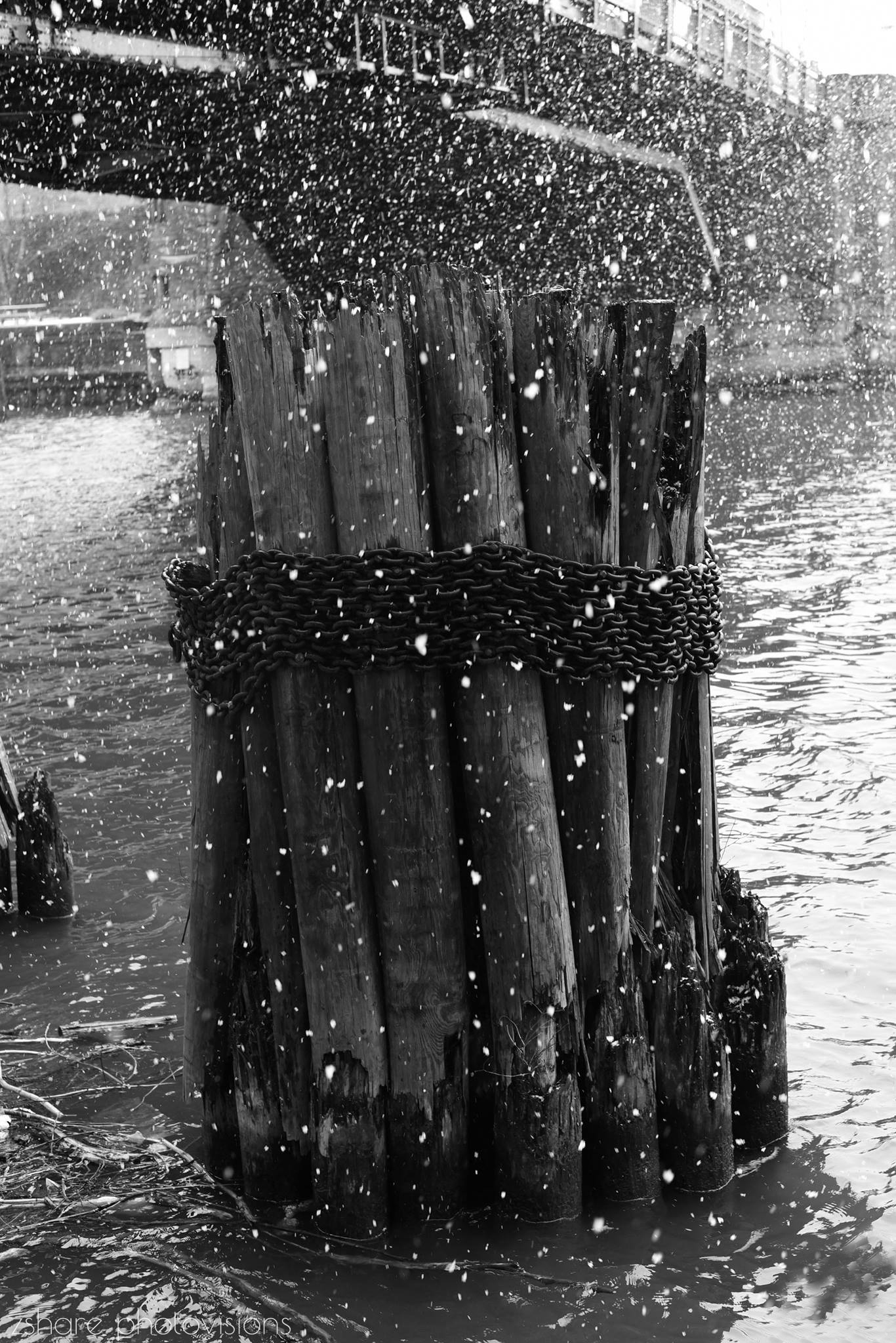 Snow on Chicago River 2 by ZShare Photovisions