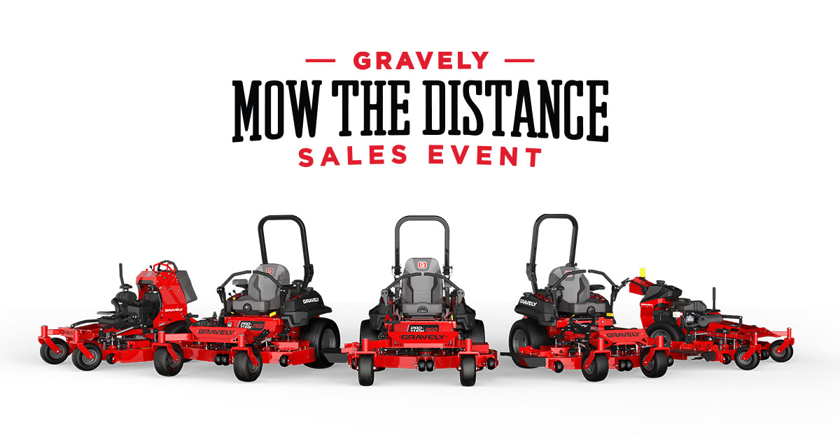 20% off MSRP for all Pro Model Mowers