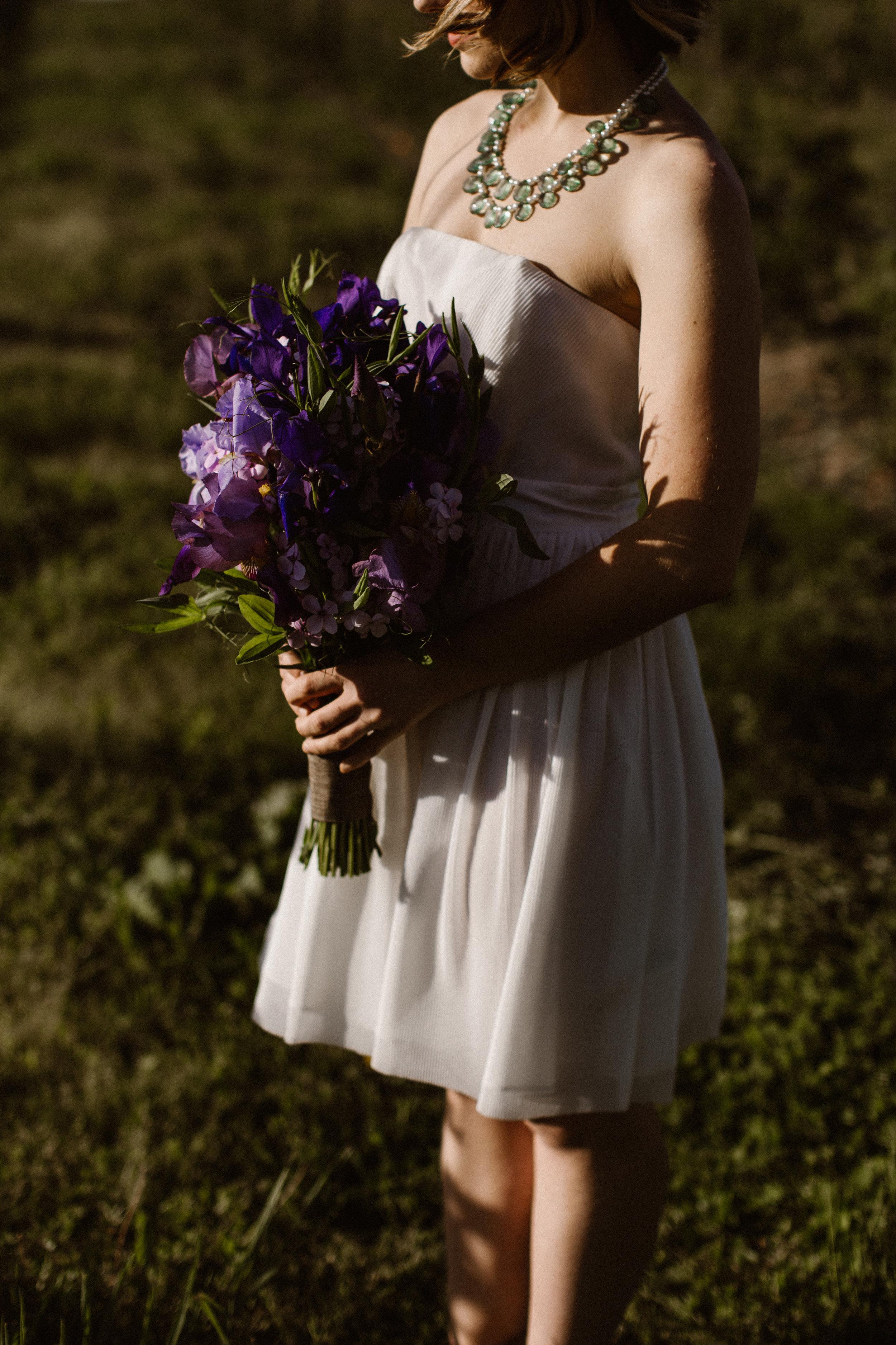 Sunset bride portrait