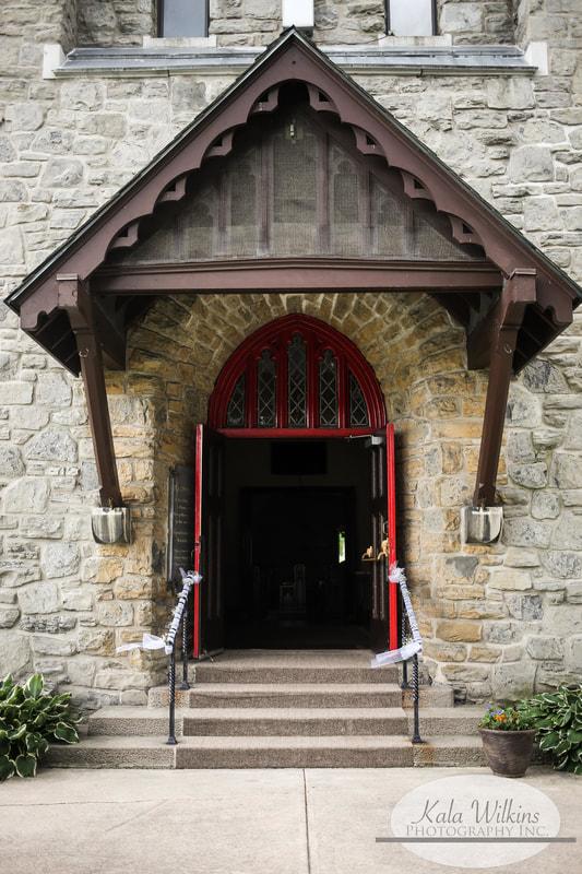 Church Door Wedding