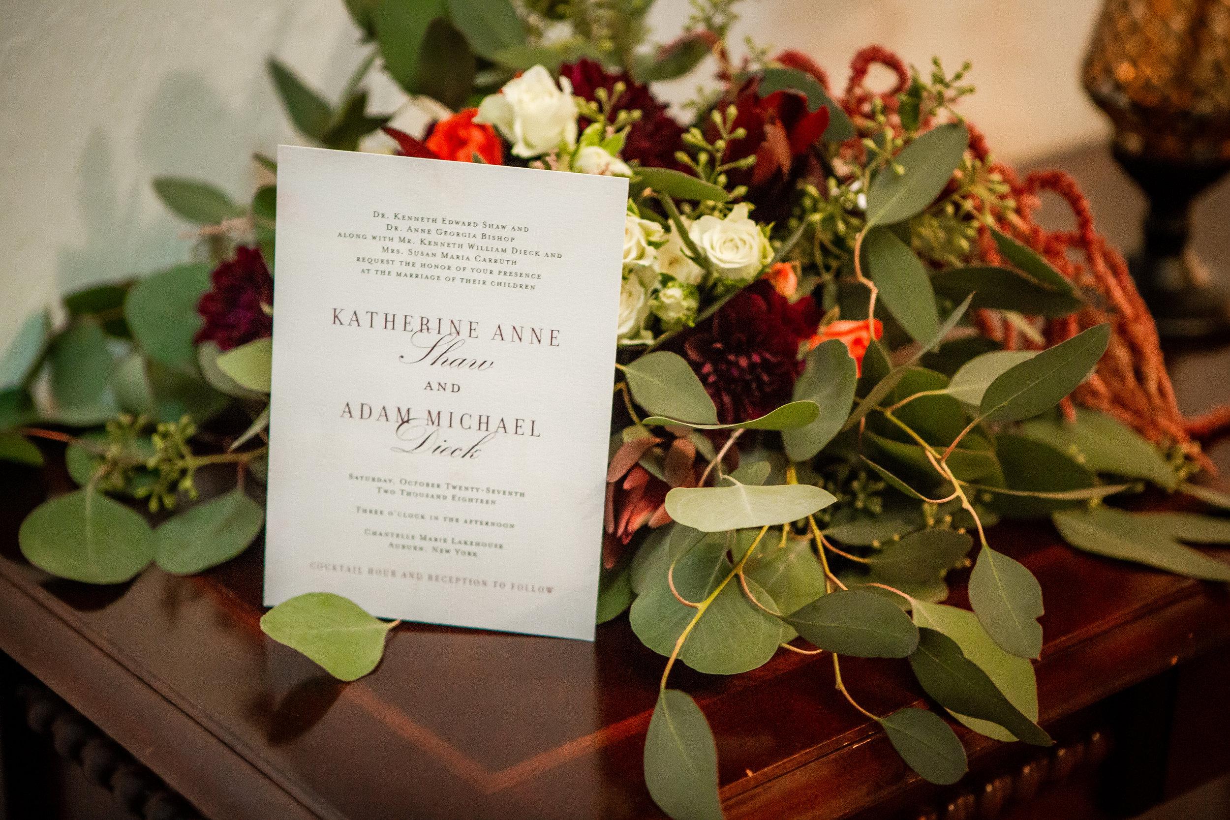 Wedding Detail-Invitation & Bouquet