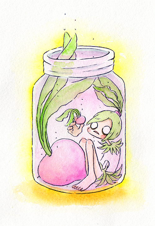 """Picked Pink Radish  The words given to me were """"Hot Pink"""" and """"Pickled Radish.""""  August 2018"""