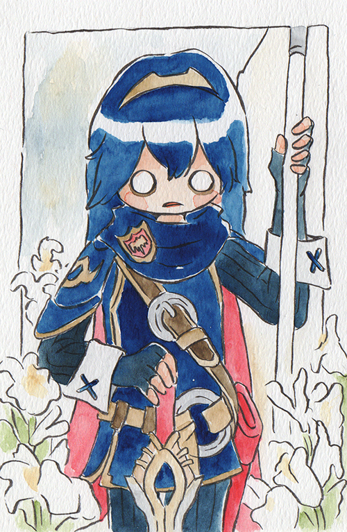 """Lucina d'Ark  The words given to me were """"Lucina"""" and """"Jeanne d'Ark.""""  April 2019"""