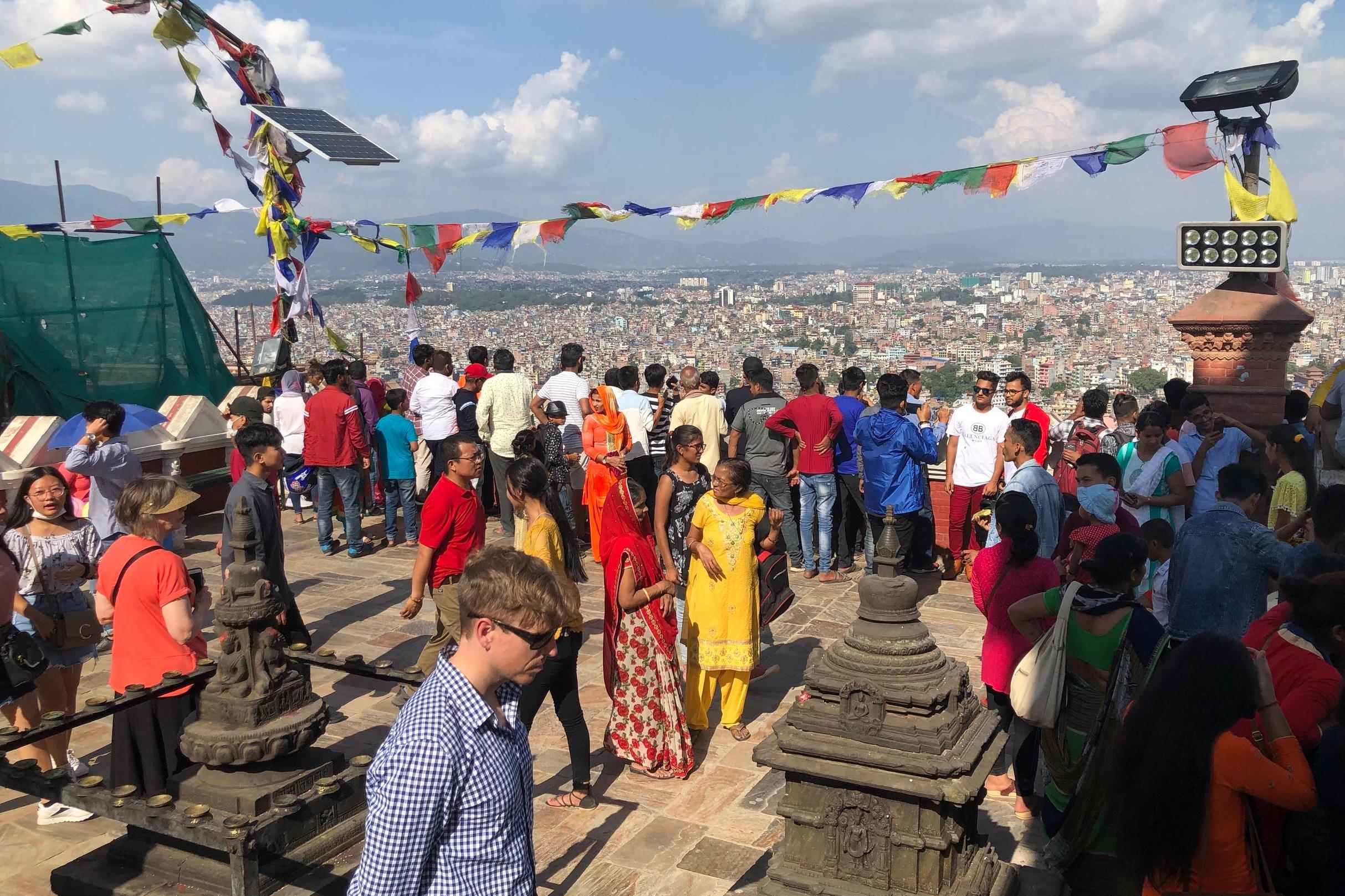 Swayambhunath Monkey Temple in Kathmandu