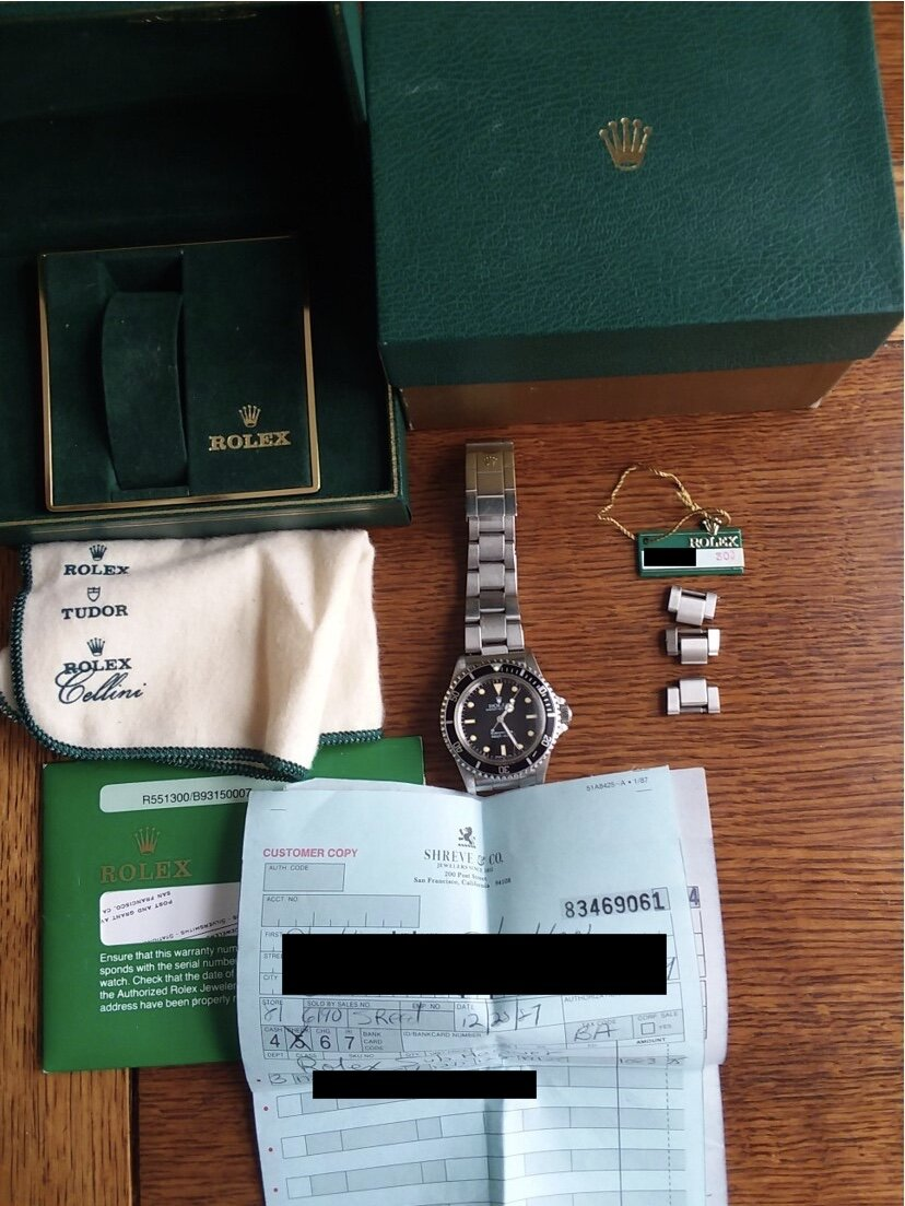 Watch, Accessories, and Papers