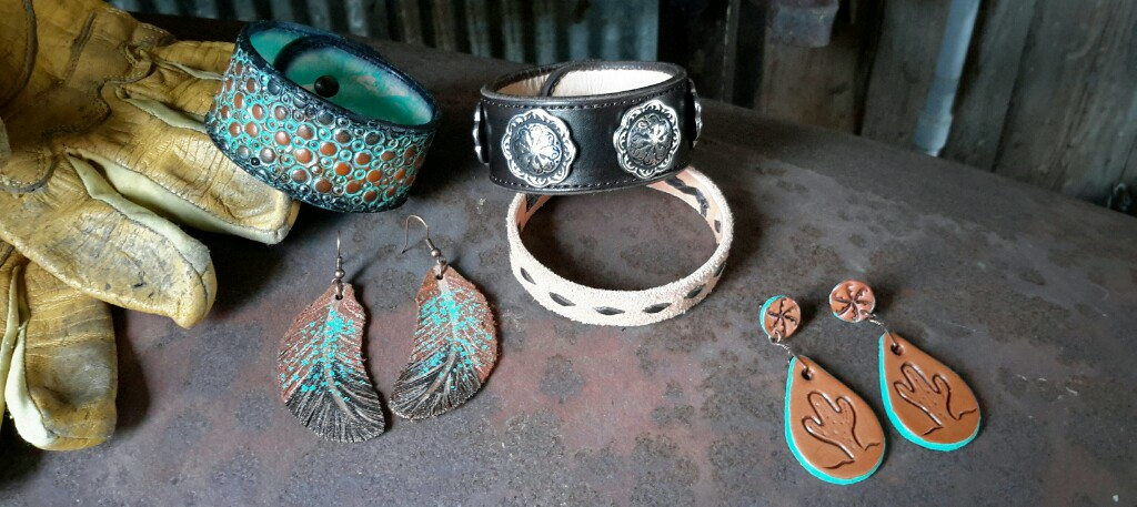 Hand Tooled Leather Jewelry