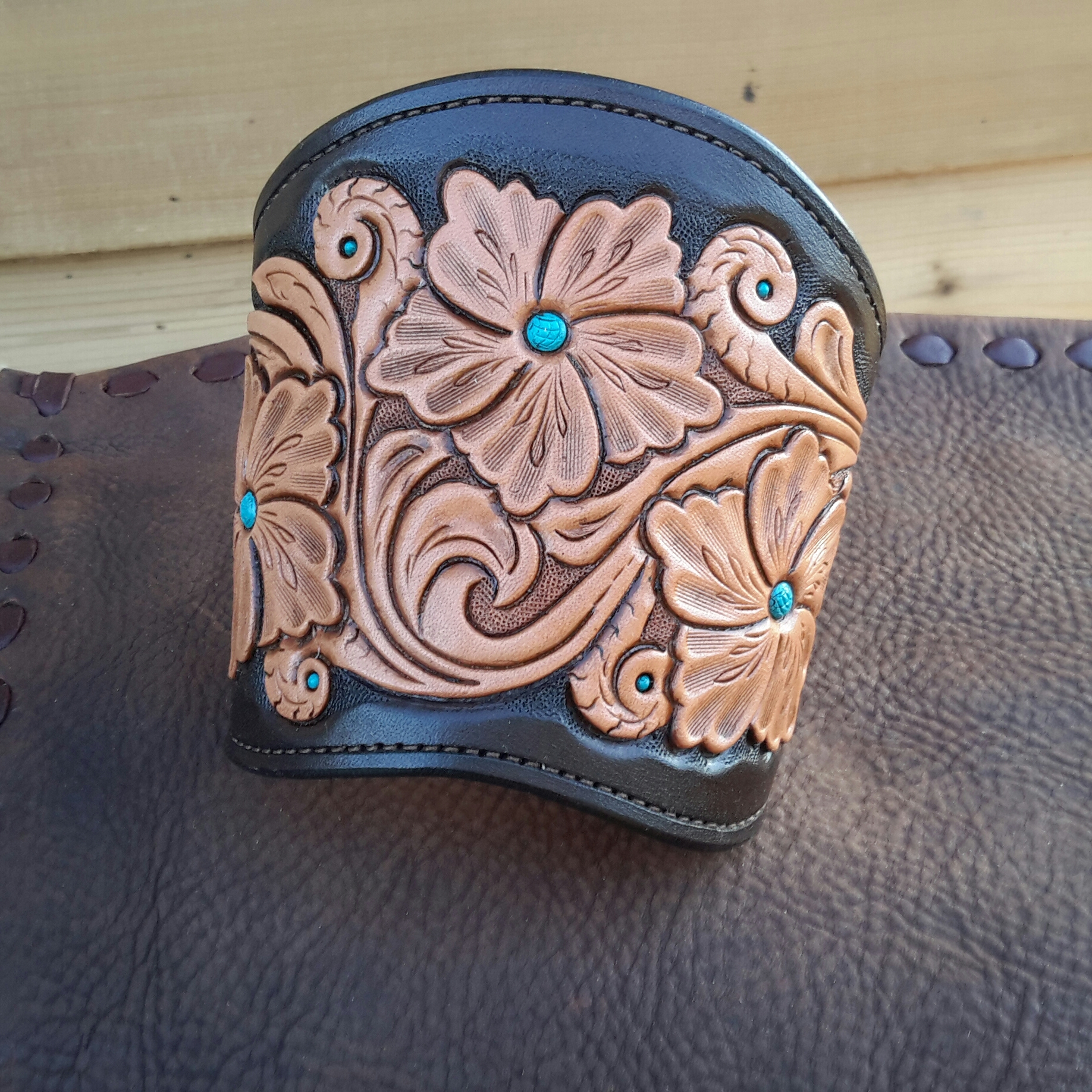 Hand Tooled Leather Cuff