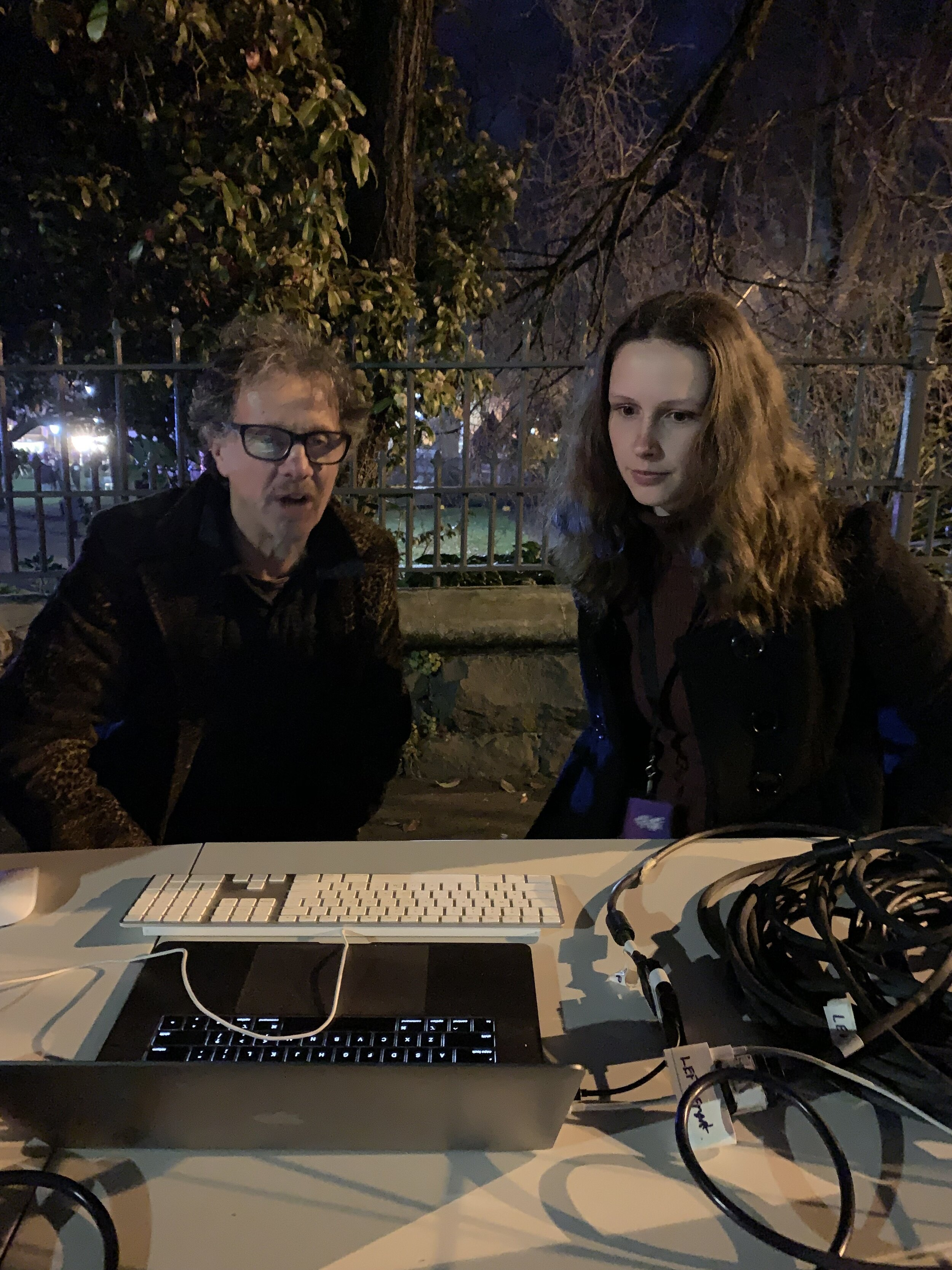 Mentor Jim Coad with Emerging Composer Claire Farrell