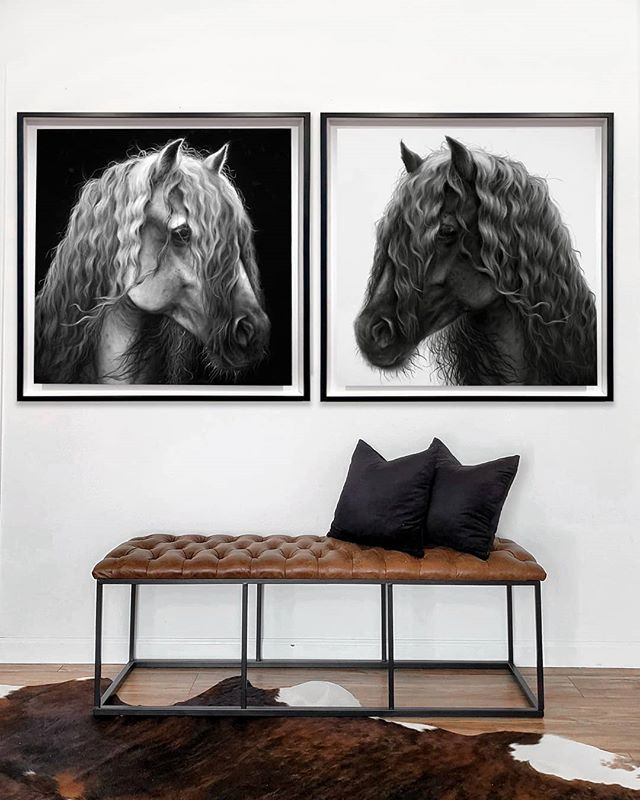 """💥GIVEAWAY💥  Where are my horse lovers at? 🙋♀️🐎 In celebration of finishing these two paintings, I'm selecting one winner to receive a FREE limited edition print of both horses! TO ENTER: 👇🏼 ✔ Follow @malenamarieart ✔ Like this post + tag a friend ✔ BONUS entries for reposting or sharing on your stories with the tag @malenamarieart  Giveaway closes Aug. 23. One winner will be announced on my feed Aug. 24. Thanks for entering! Keep following for more giveaways. *Print sizes (2): 18"""" x 18"""" (originals 36"""" x 36"""" as shown). Printed on archival canvas and hand embellished, signed and numbered by me. Arrives flat (unstretched) and unframed, allowing you to frame them in a style that matches your decor or have them stretched locally."""