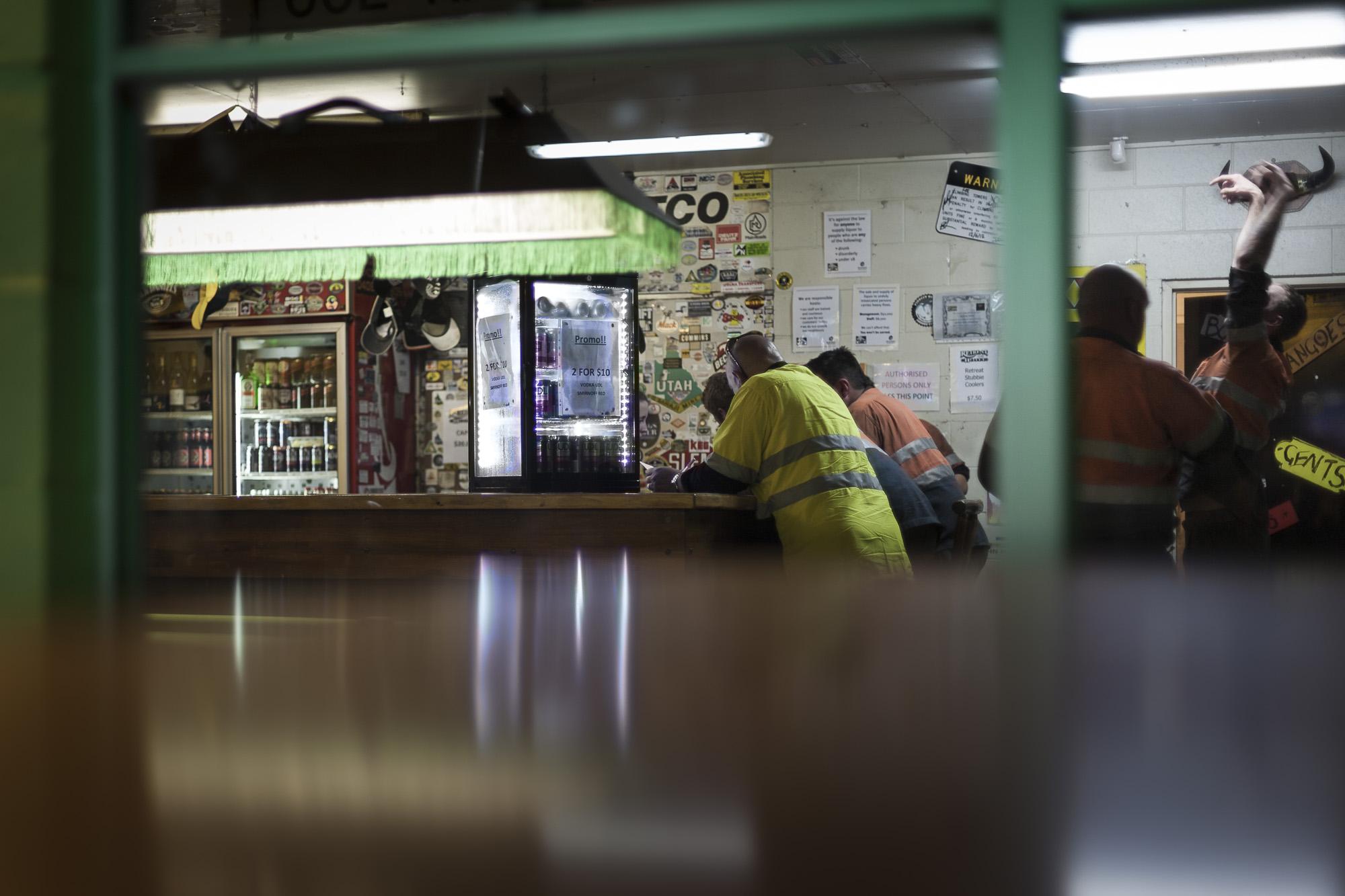 Miners' bar, Epsom,  2011  57x100cm, Pigment print on platine fibre paper