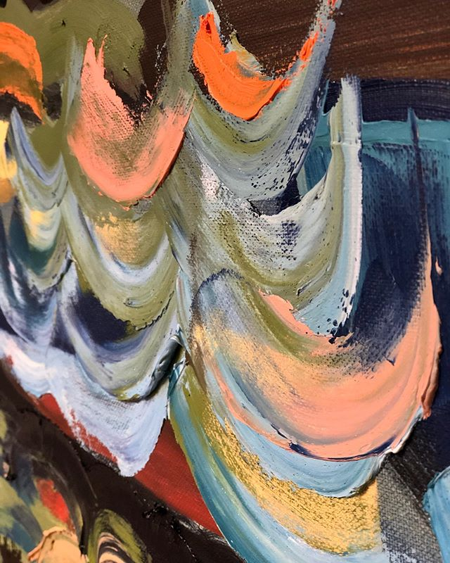 Details of palette knife diptych #thicclayers