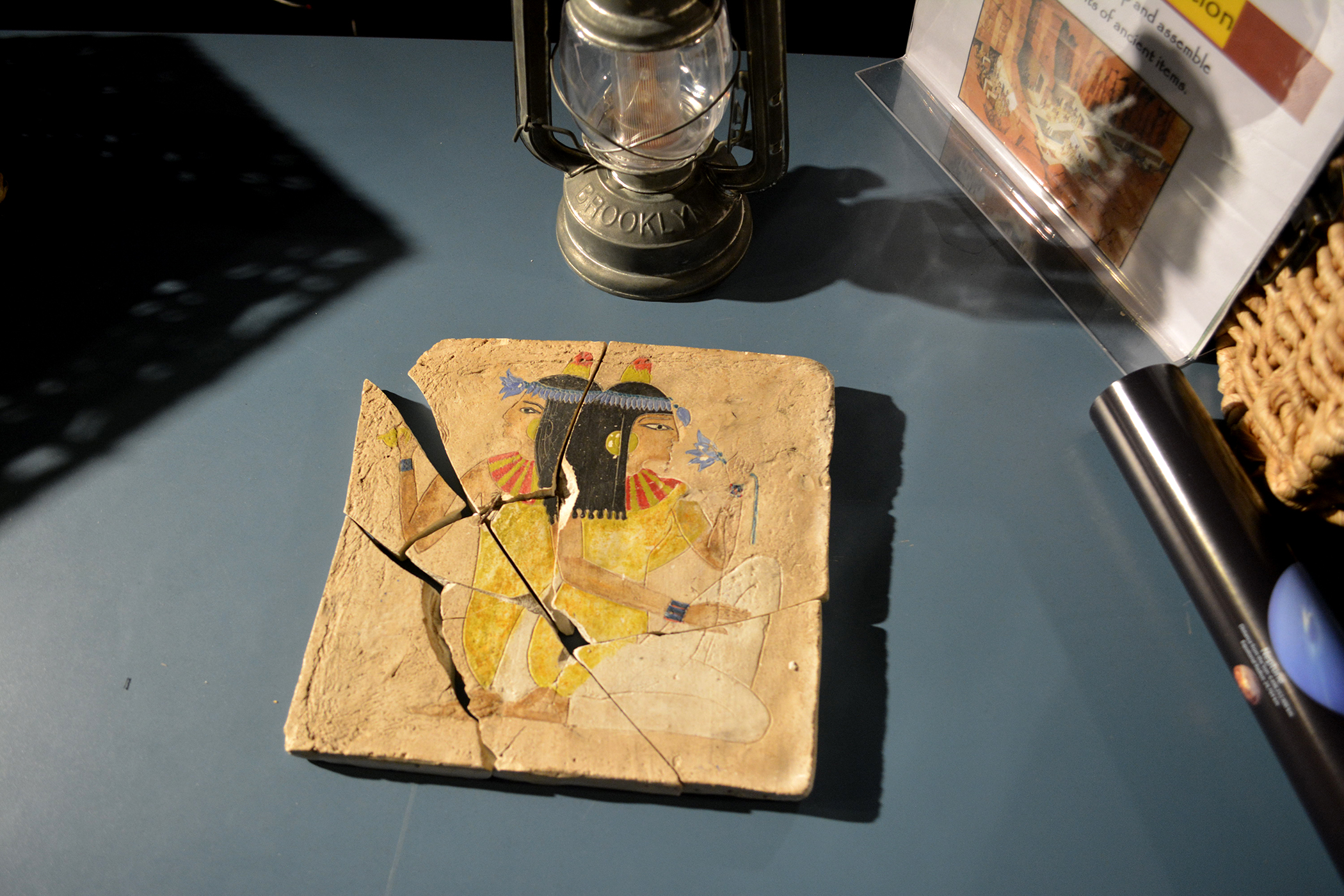 Assemble ancient tablets to discover clues!