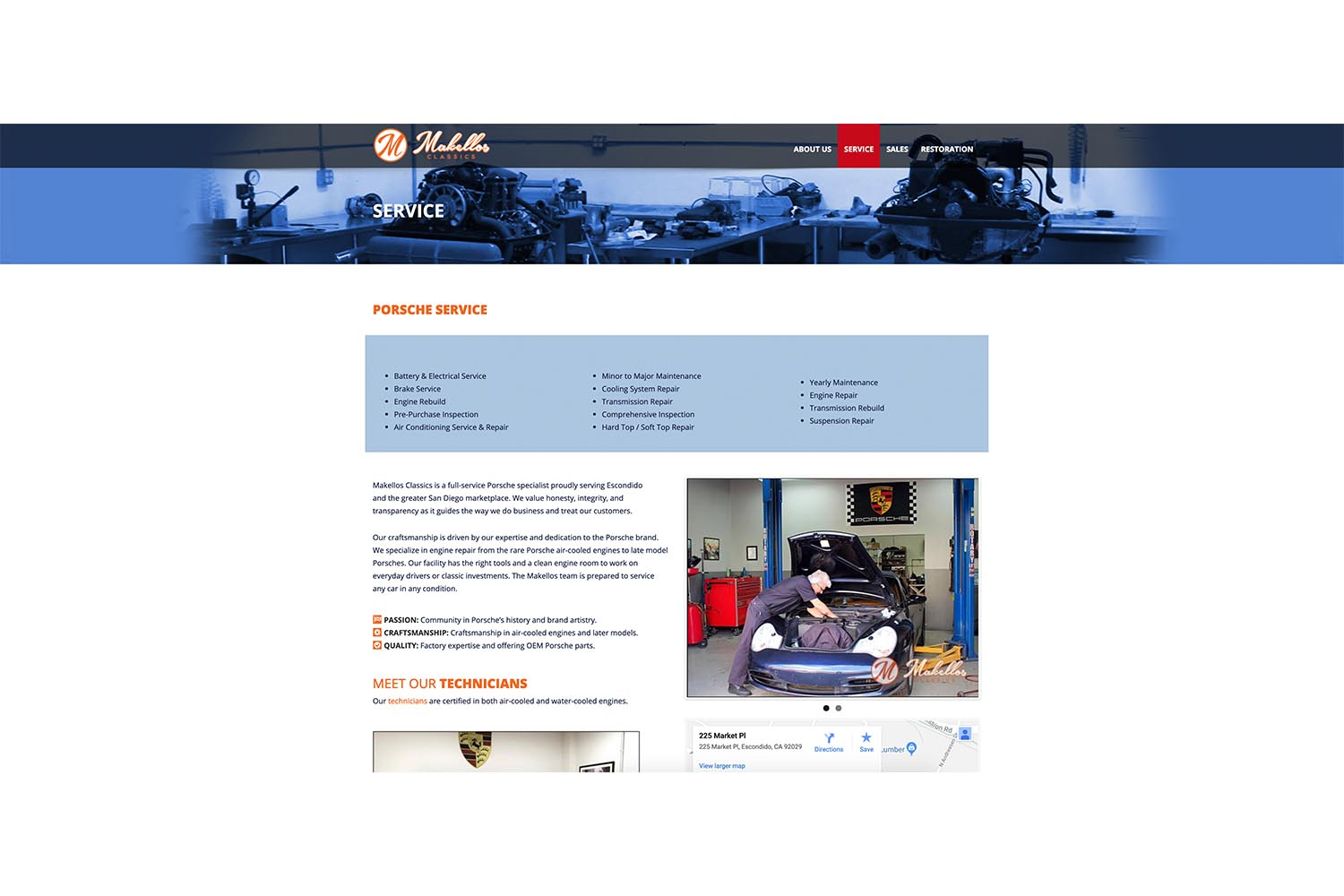 The Old Services Page