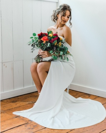 Stylized Bridal shoot - I was honored to be a blushing bride. Wearing a beautiful Jessica Haley bridal gown was a dream come true.