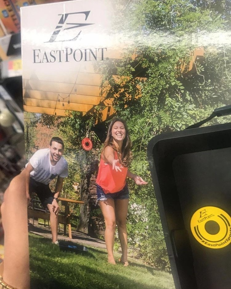 East Point Sports - Jumping for joy to have been featured on East Point Sports volleyball and other outdoor game packaging, which can be purchased at Walmart. The ping pong table video demonstrations can be found on the East Point Sports website.