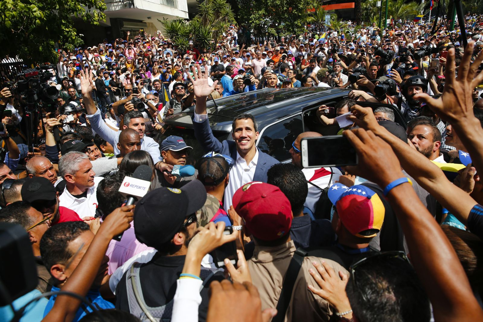 Juan Guaido. Credit Marco Bello via Getty Images