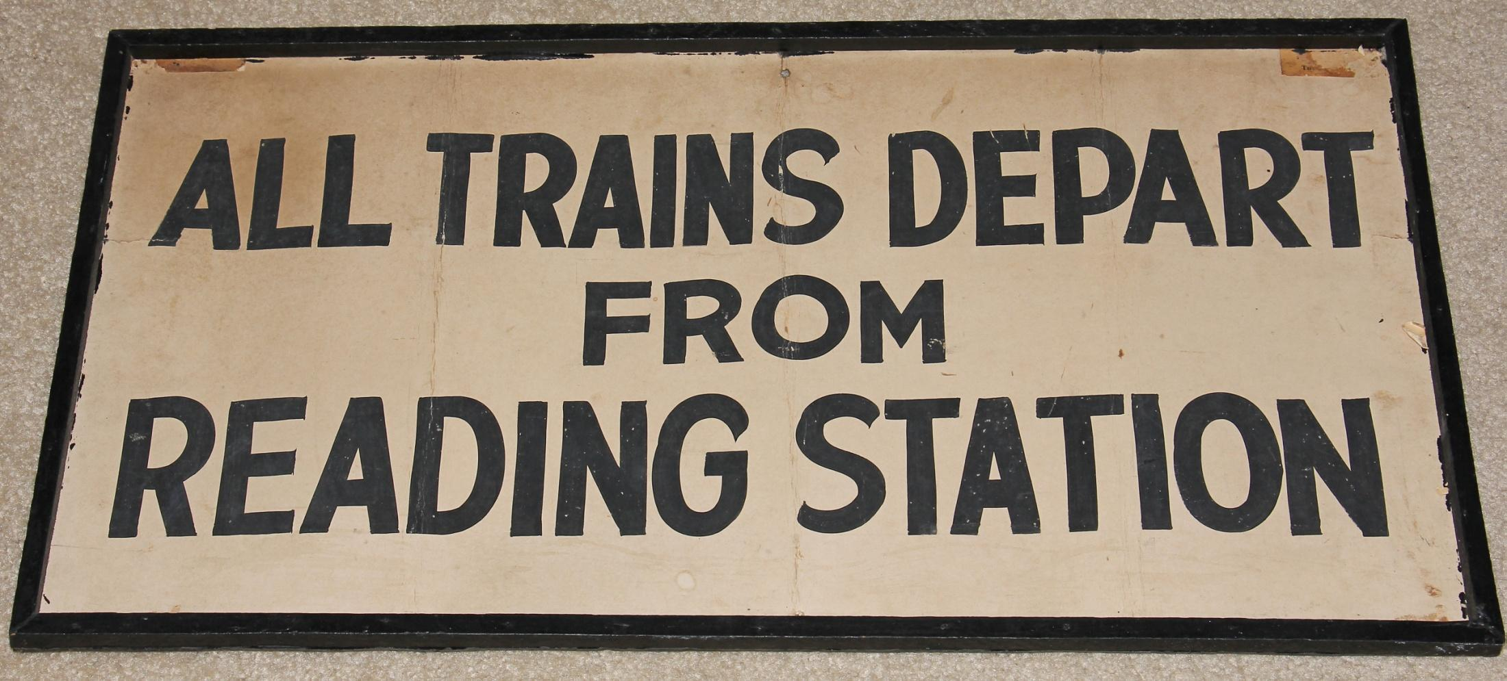 This sign was used, at Cape May, to direct passengers from the closed Pennsylvania Railroad Station to the Reading Station.