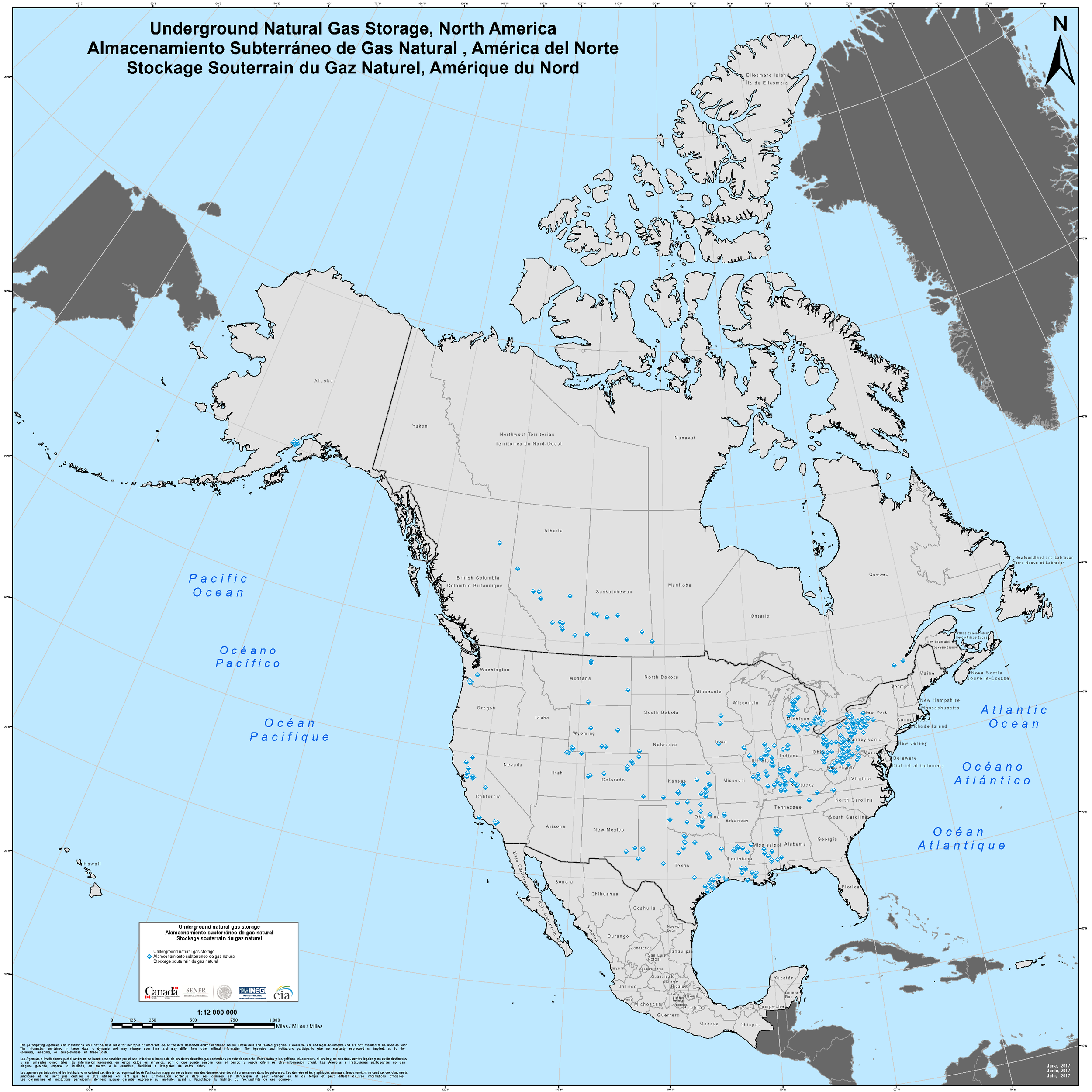 - Underground Natural Gas Storage Sites in North America