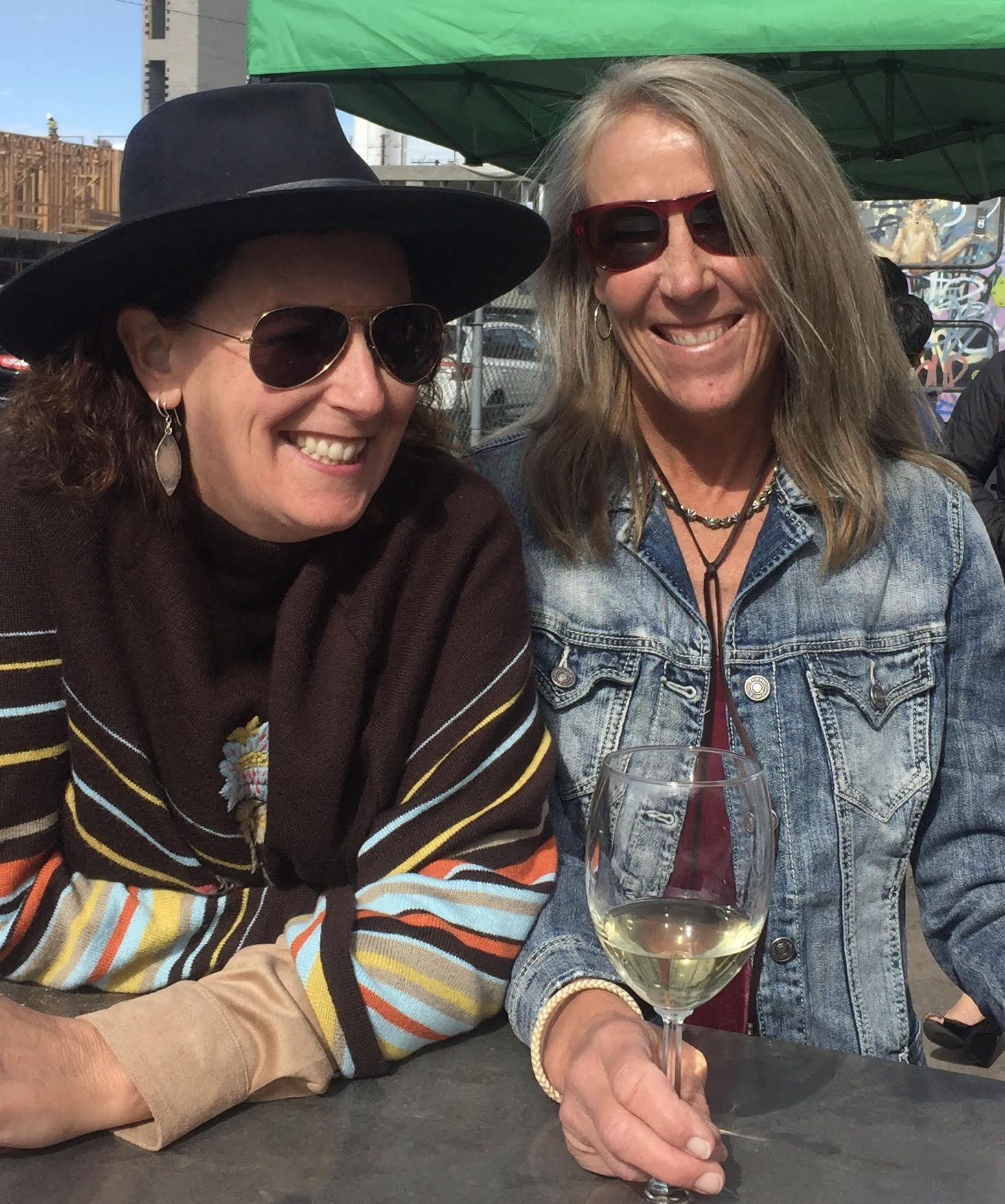 Sommeliers Diane Kresley (left) and Judy Byron
