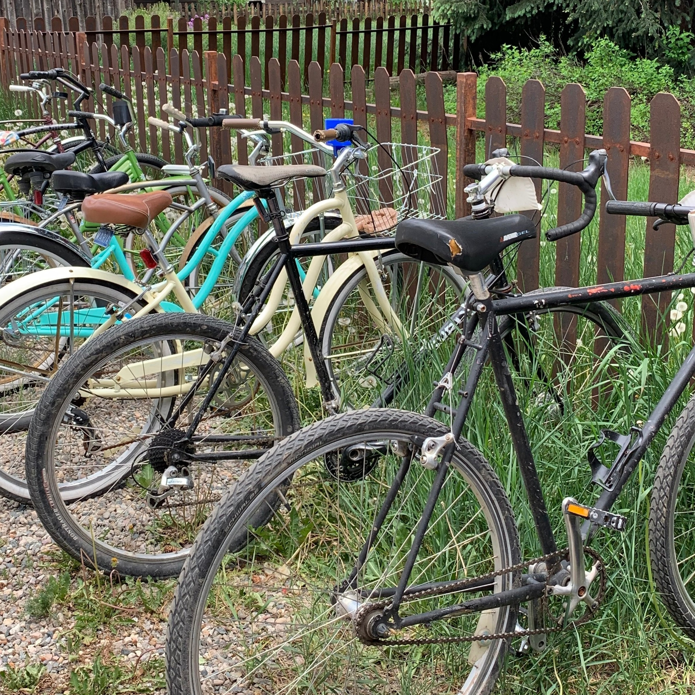 Townie bikes are a great way to get around Crested Butte.