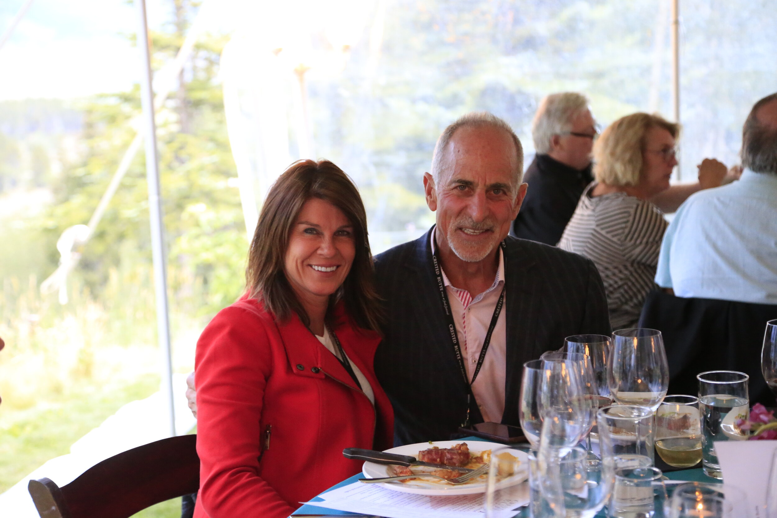 Theresa Lydick and Jeff Hermanson at the 2018 Crested Butte Wine + Food Festival. Photo by Nathan Bilow.