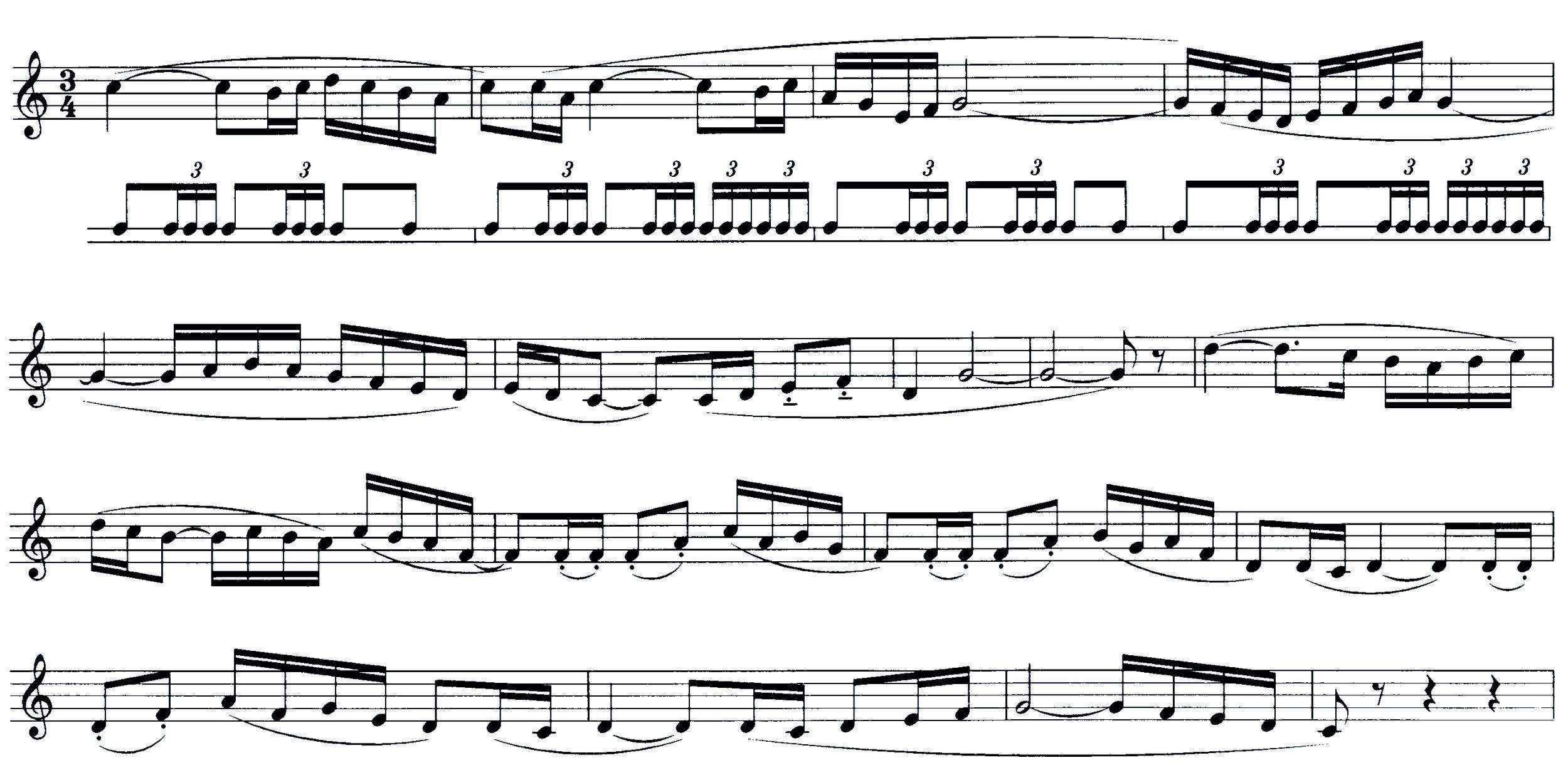 Abbildung 1: Die erste Melodie des Boléro (A)