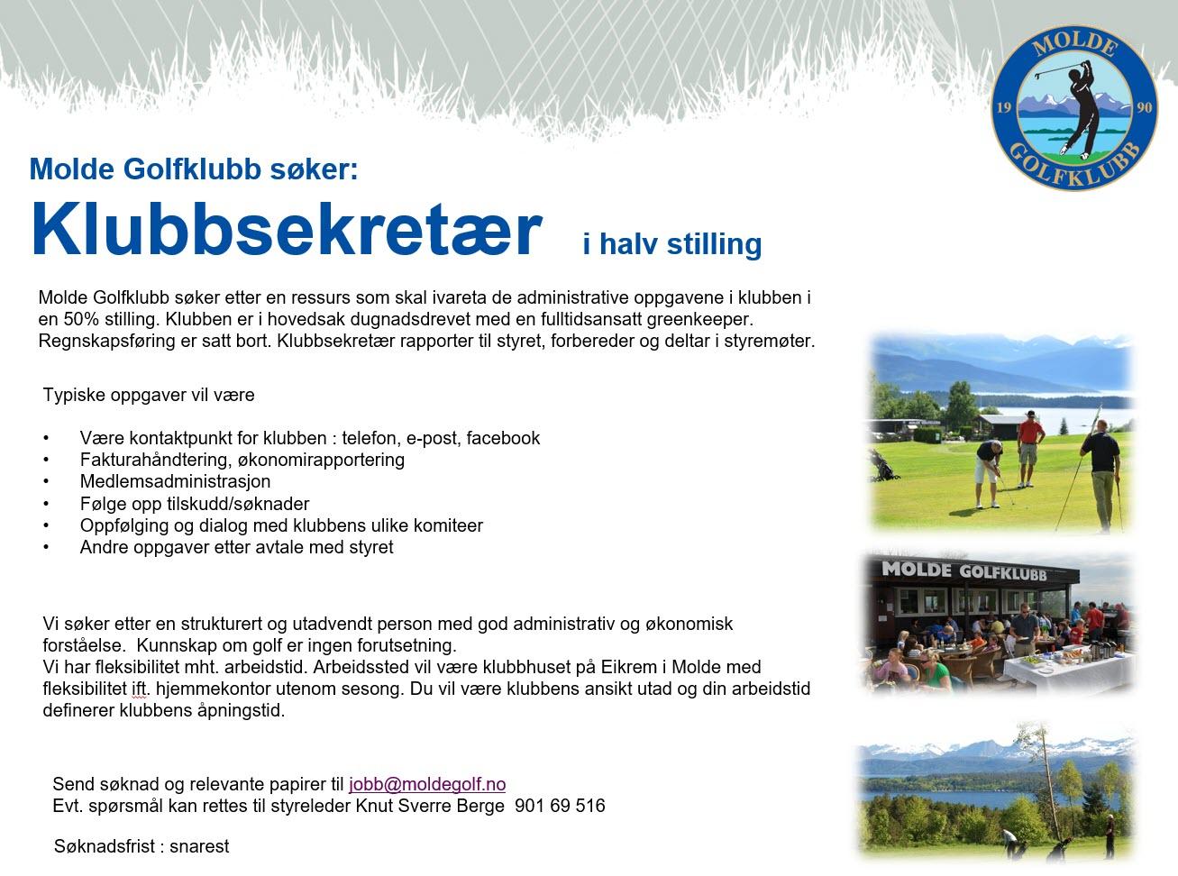 Molde Golfklubb annonse klubbsekretær juni 2019.jpg