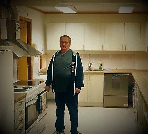 Kjøkken Leif i sitt rette element!