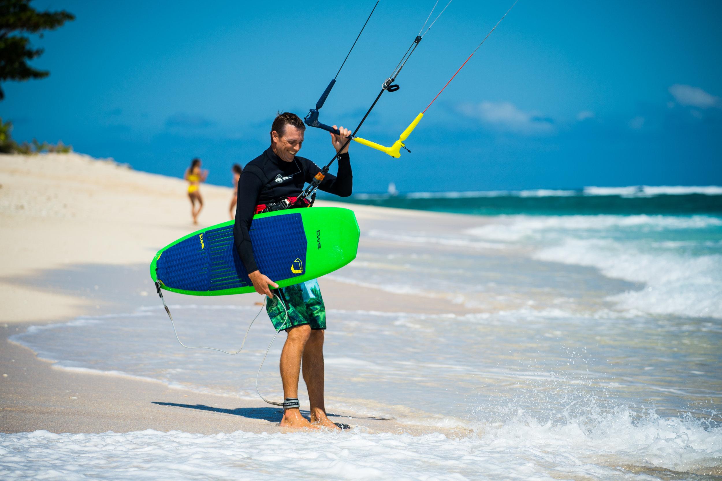 Fins & Traction for kitesurfing -