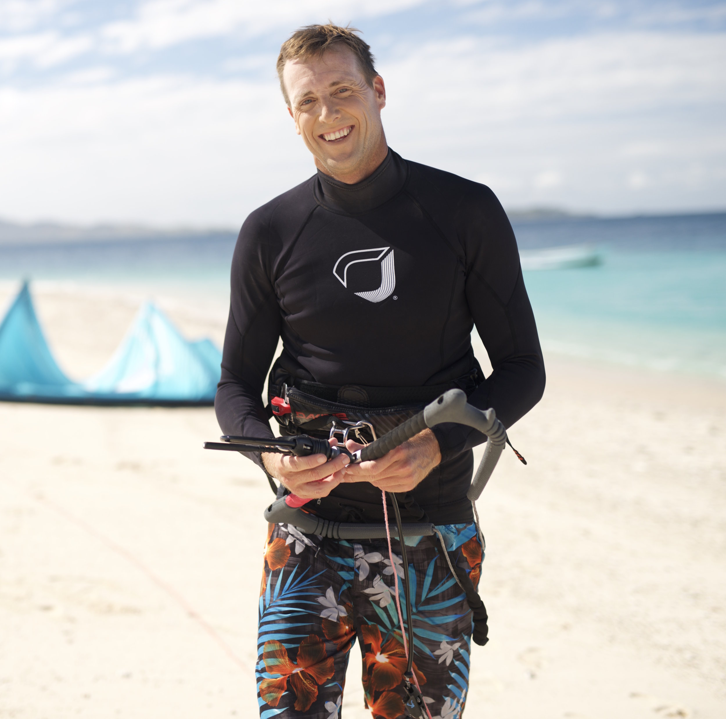 Ben Wilson - Owner and co-founder of BWSURF, Ben Wilson has been kiting since the beginning. Ben was introduced to kiting around the new millennium while he was working on Namotu Island in Fiji. During winters he was always frustrated by trade winds, which meant afternoon surfing was rarely an option. One year some guests from Maui (Robby Naish & co.) visited and brought the latest in wind-riding technology - one of the original 2 line kites - and taught Ben the basics. After that the afternoons provided an opportunity to get out on the water where Ben practised on his surfboard, as it was all he had. It was during this time he had a light bulb moment, and realised kiting was a way to travel the world and develop a career. At the time, when kiting was only new, freestyle was the only commercial avenue so Ben followed the professional competition circuit for years before eventually returning to ride waves on his surfboard. After that, he sought to create more specific equipment with Dano See and together they formed BenWilsonSurf. I guess the rest is history…