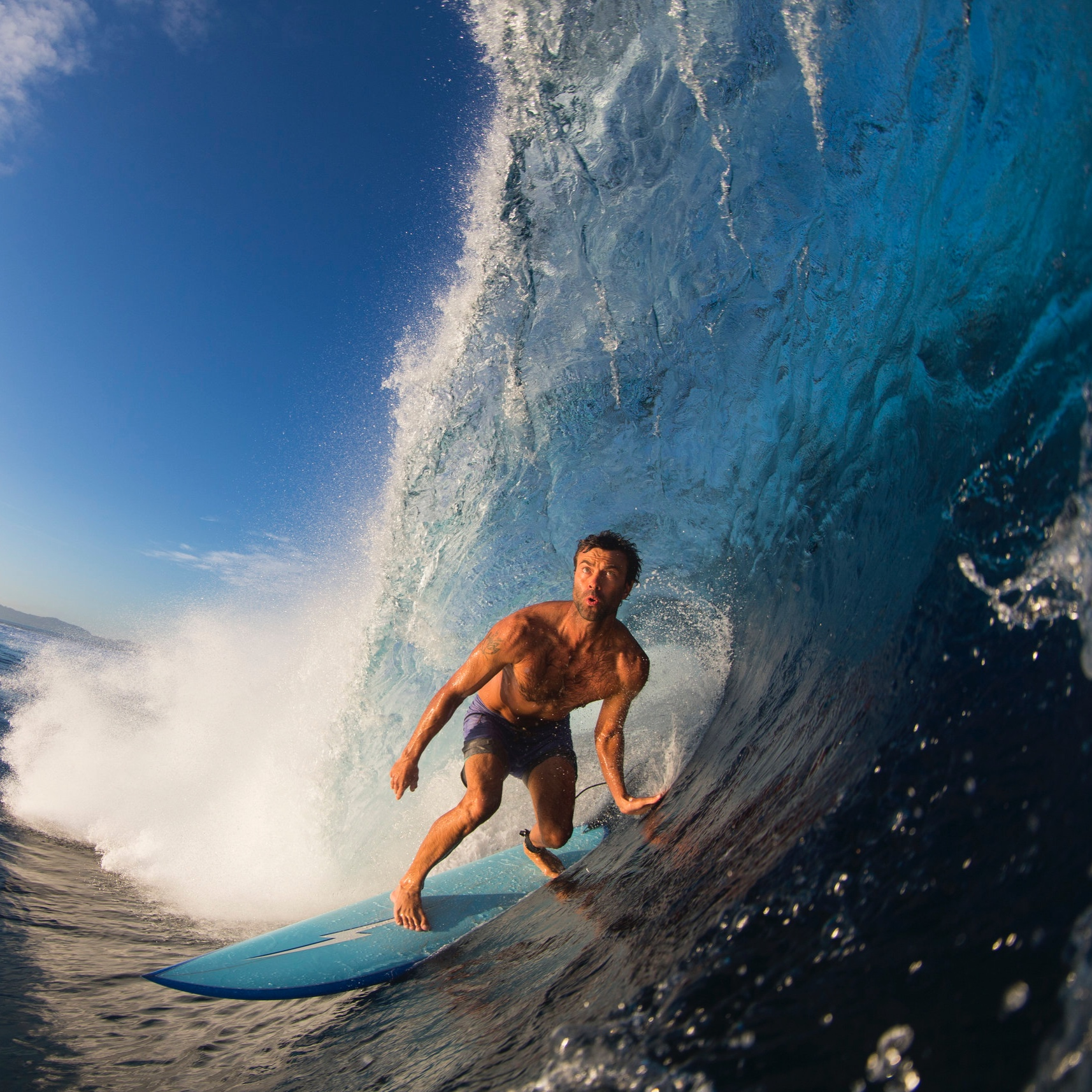 """Kohl Christensen - Kohl Christensen's life balances the search for the biggest waves with building and farming at home in Hawaii. """"Surfing big waves keeps me grounded,"""" Kohl says. As one of the leading players in the revival of paddle-in surfing in giant conditions, he spends much of his time tracking swells and testing new board designs. Kohl is relatively new to kitesurfing but has taken to it like a duck to water, fast becoming one of the smoothest and most natural kiters in the lineup. While big waves will always be his first calling, kitesurfing has opened up a new world of possibilities. When it's both flat and calm you might find Kohl tending his off-the-grid farm or installing solar systems around Oahu. When the waves are pumping he'll be paddling into the biggest waves he can find."""