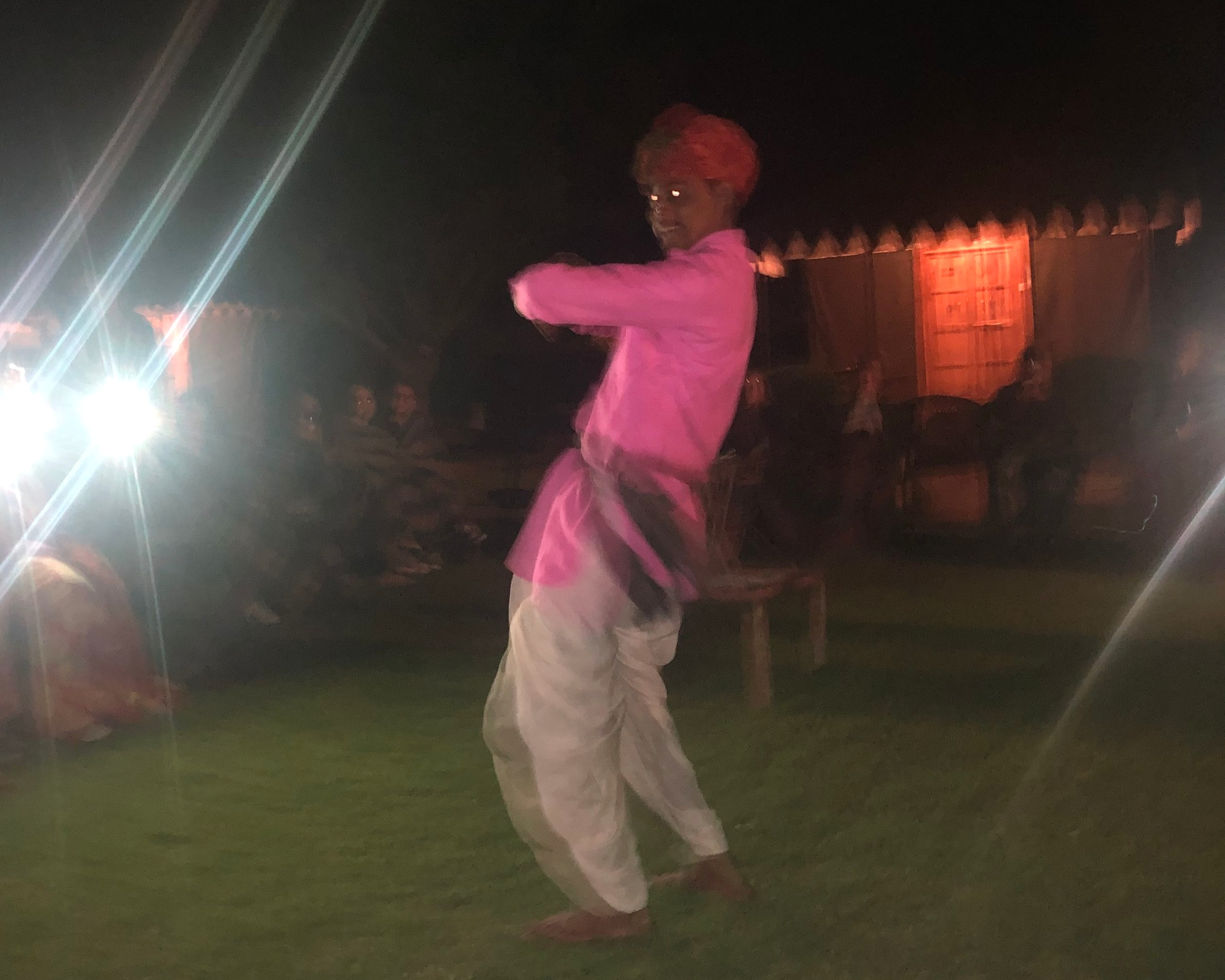 He looks a bit demonic in this low-quality photo. Alas, the dancing man's hilarity simply could not be captured on camera.