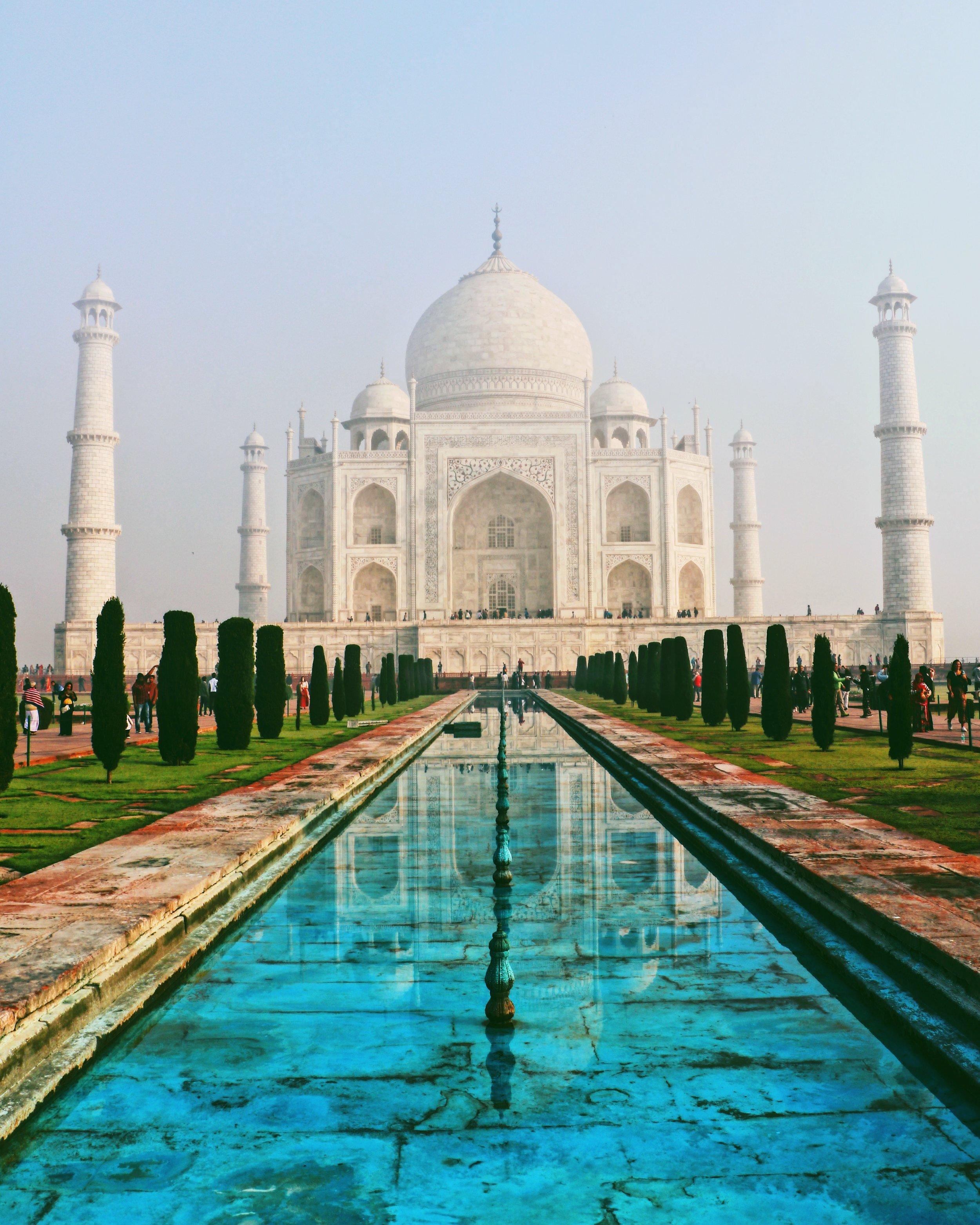 The Taj Mahal in all it's beautiful glory.