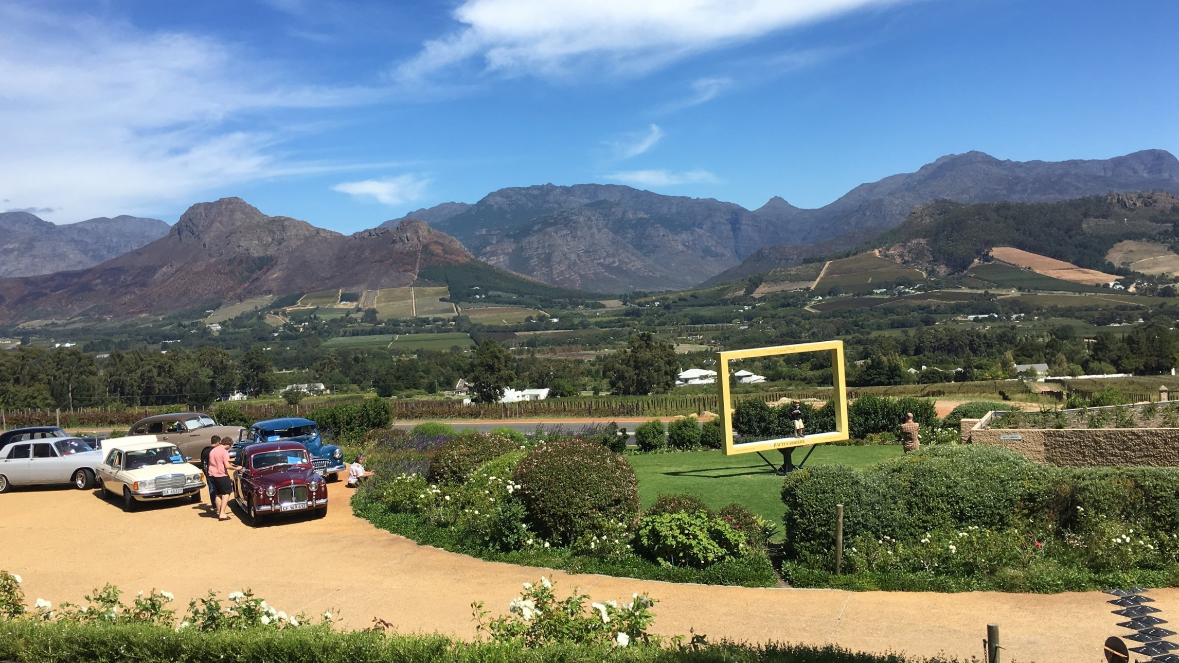 The first winery we visited. I didn't catch the name of the place, but it had the best views by far.