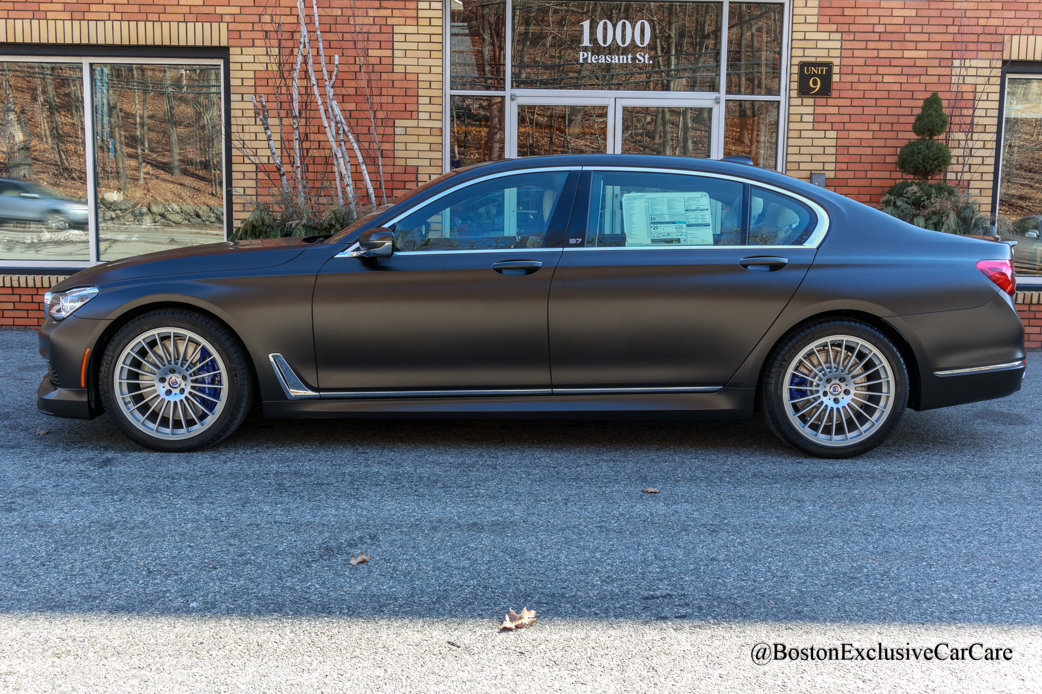 2019 BMW Alpina B7 - Xpel Stealth full car wrap over frozen matte paint -