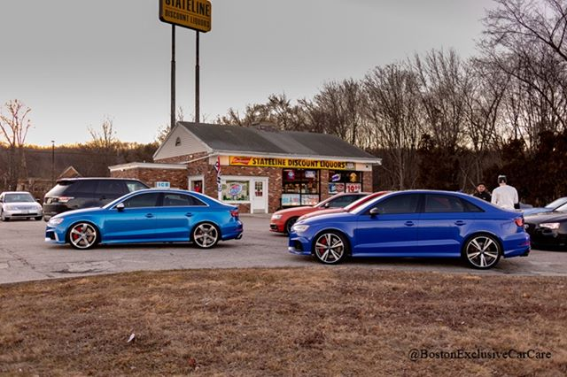 Boston Sport Audi Group #rs3 #audi #nogaroblue #nogaro #arablue #catalunya #catalunyared #audirs3 #boston #massachusetts #cruise #squad