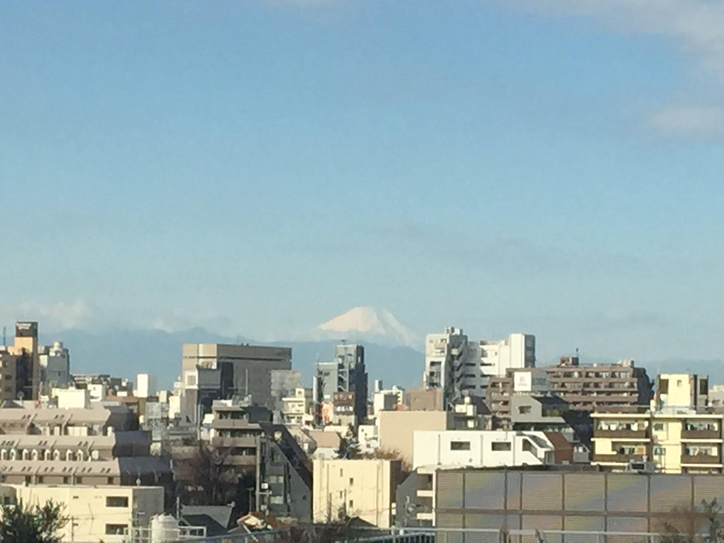Mountain Fuji view from Waseda International Student House, Nakano, Tokyo