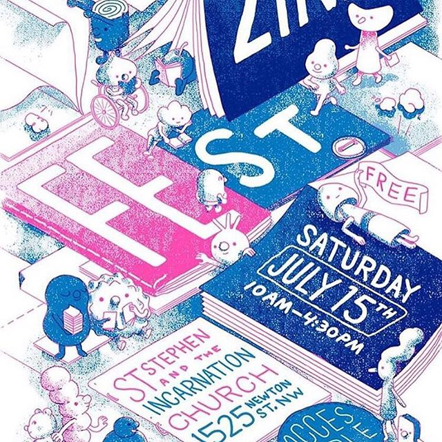 We're so excited for tomorrow! Bring your cash and come check out some super cool zines from the coolest zinesters. 10-4:30 at St. Stephen's