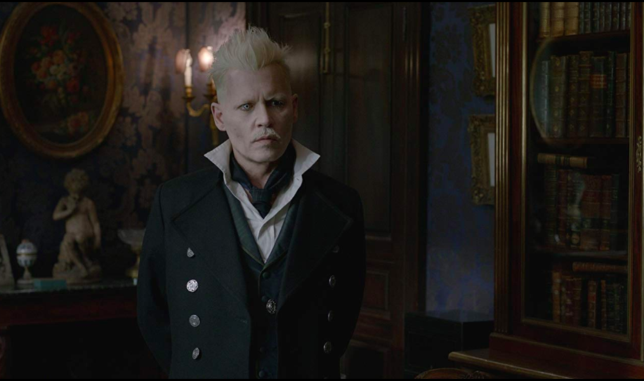 Johnny Depp (yikes) in  Fantastic Beasts