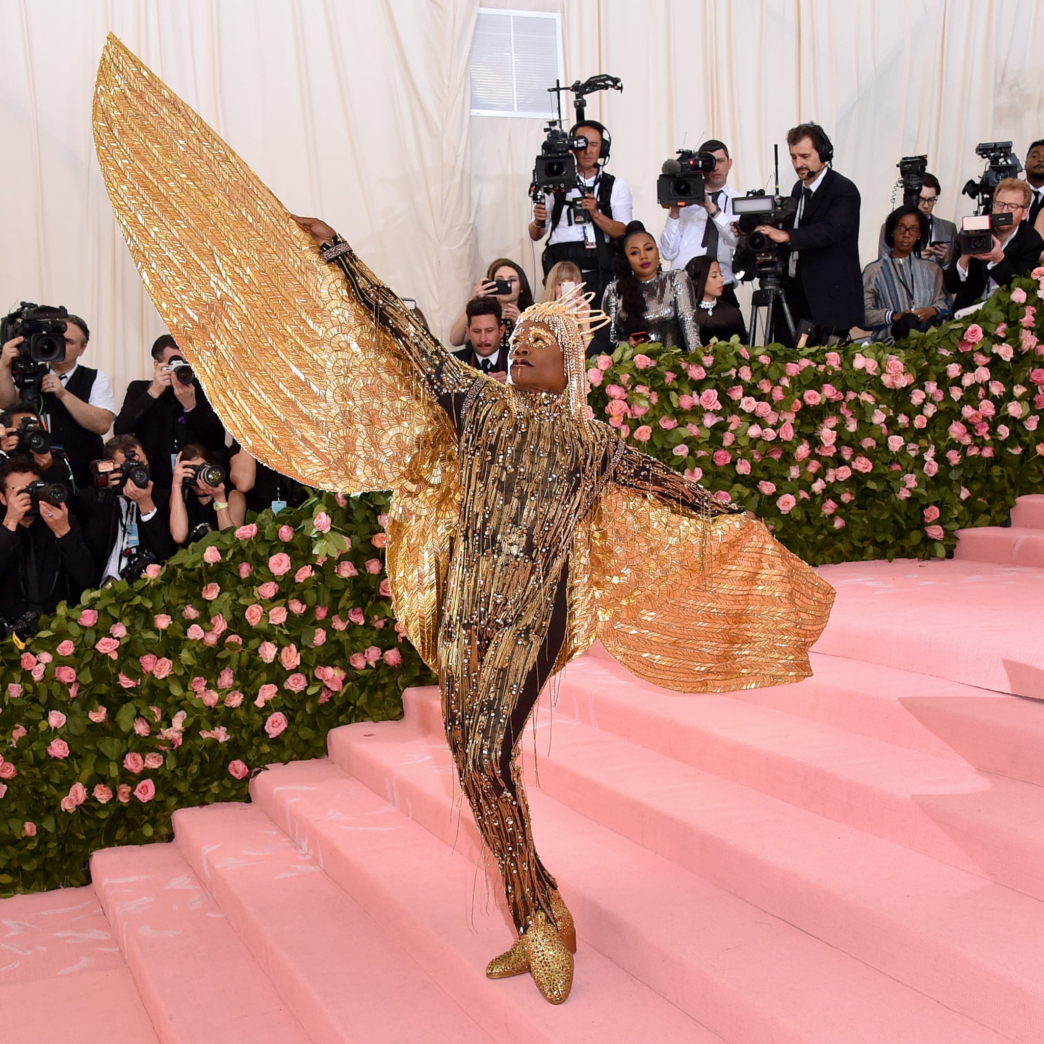 """Billy Porter in his """"Sun God"""" outfit designed by The Blonds. Photographed by John Schearer."""