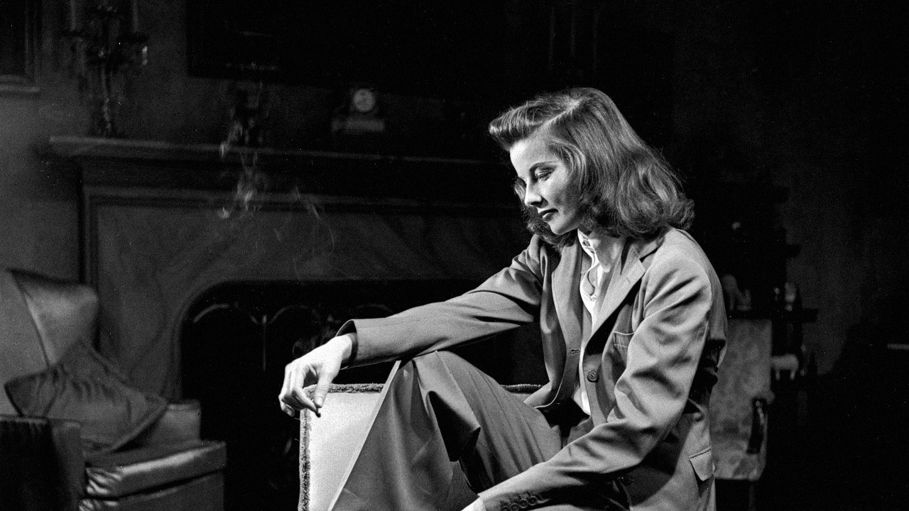 Katharine Hepburn , queen of trousers and probs a secret lesbian (we hope)