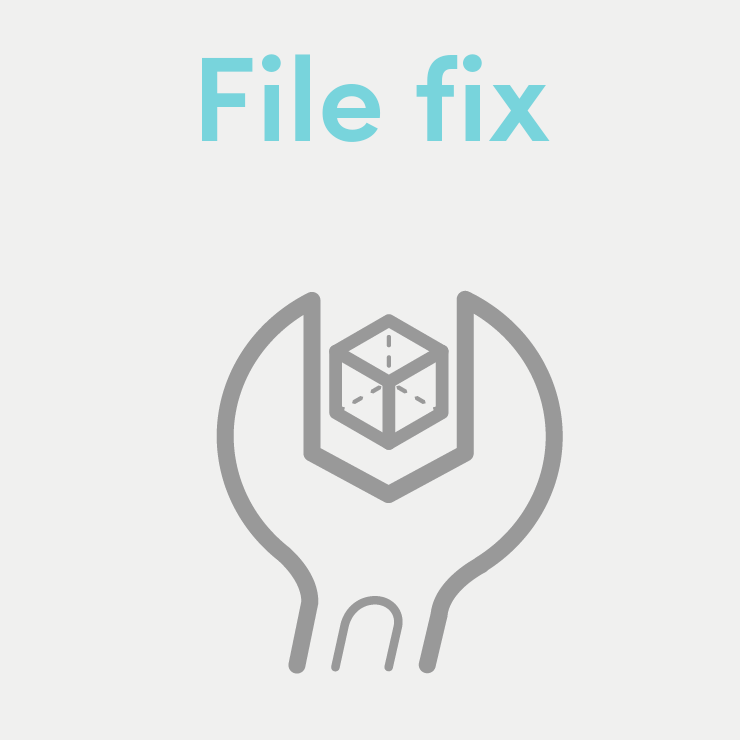 We prepare your file for 3D printing.