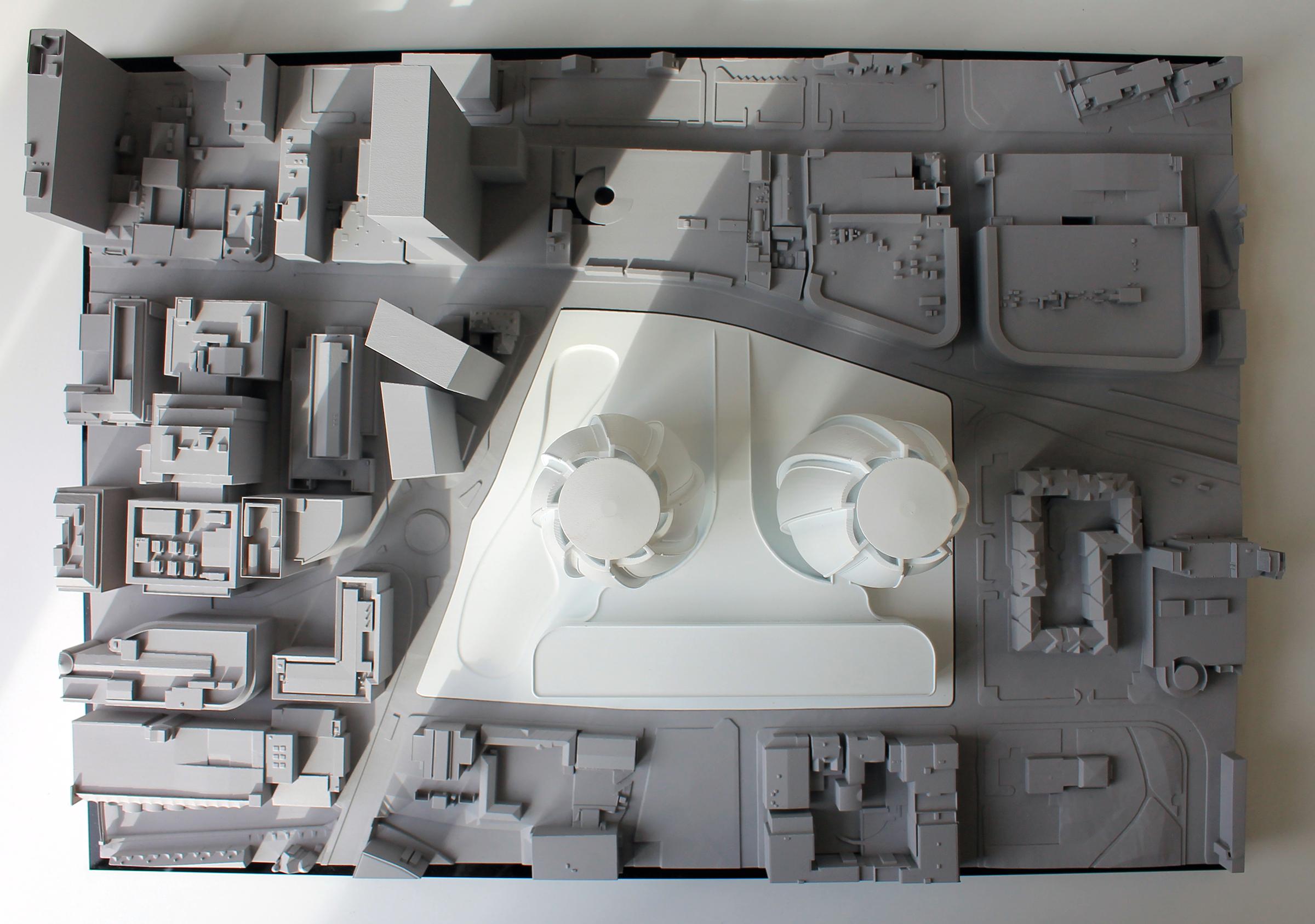 3D Printed Site Model SLA Resin with Plug